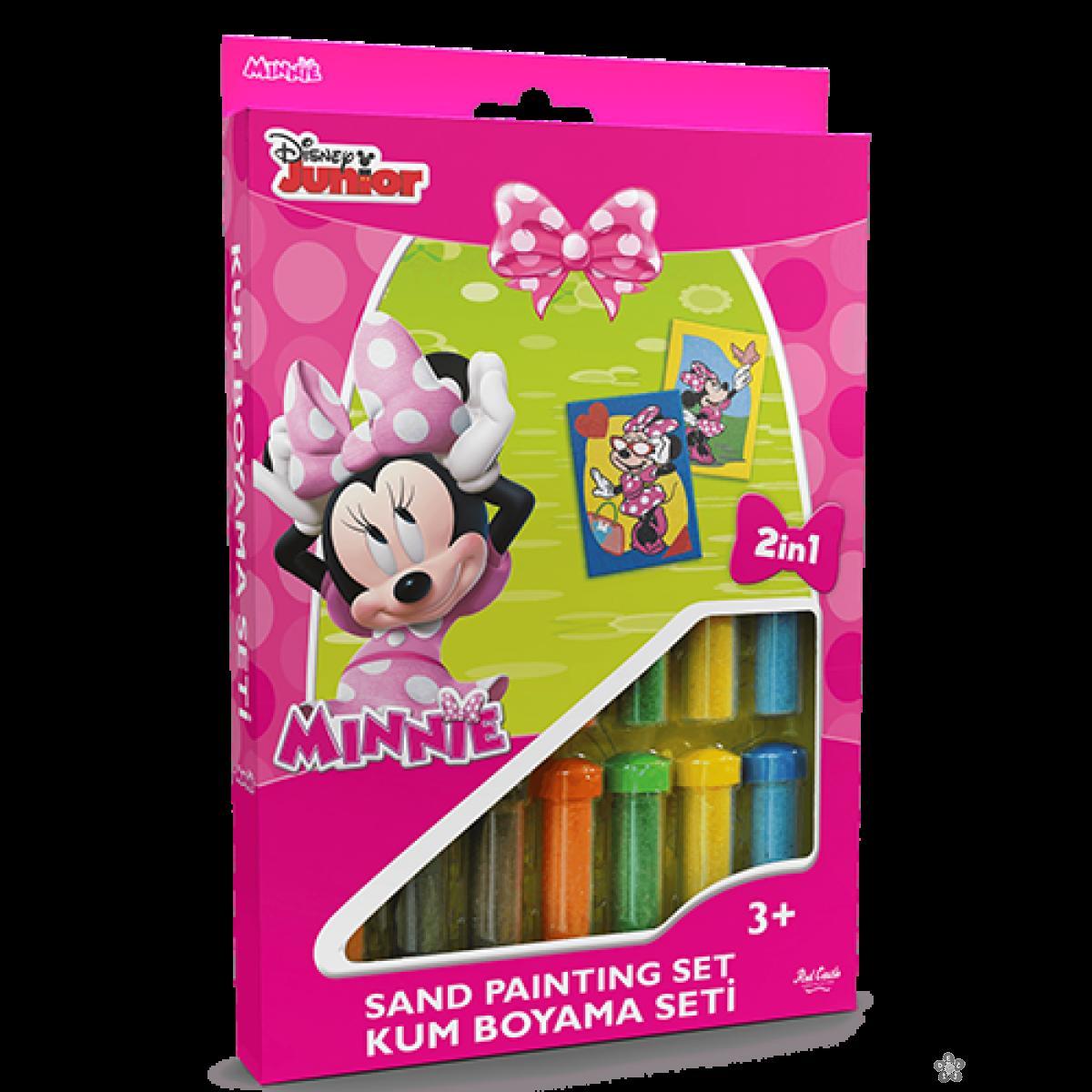 Minnie set za slikanje peskom 2 u 1