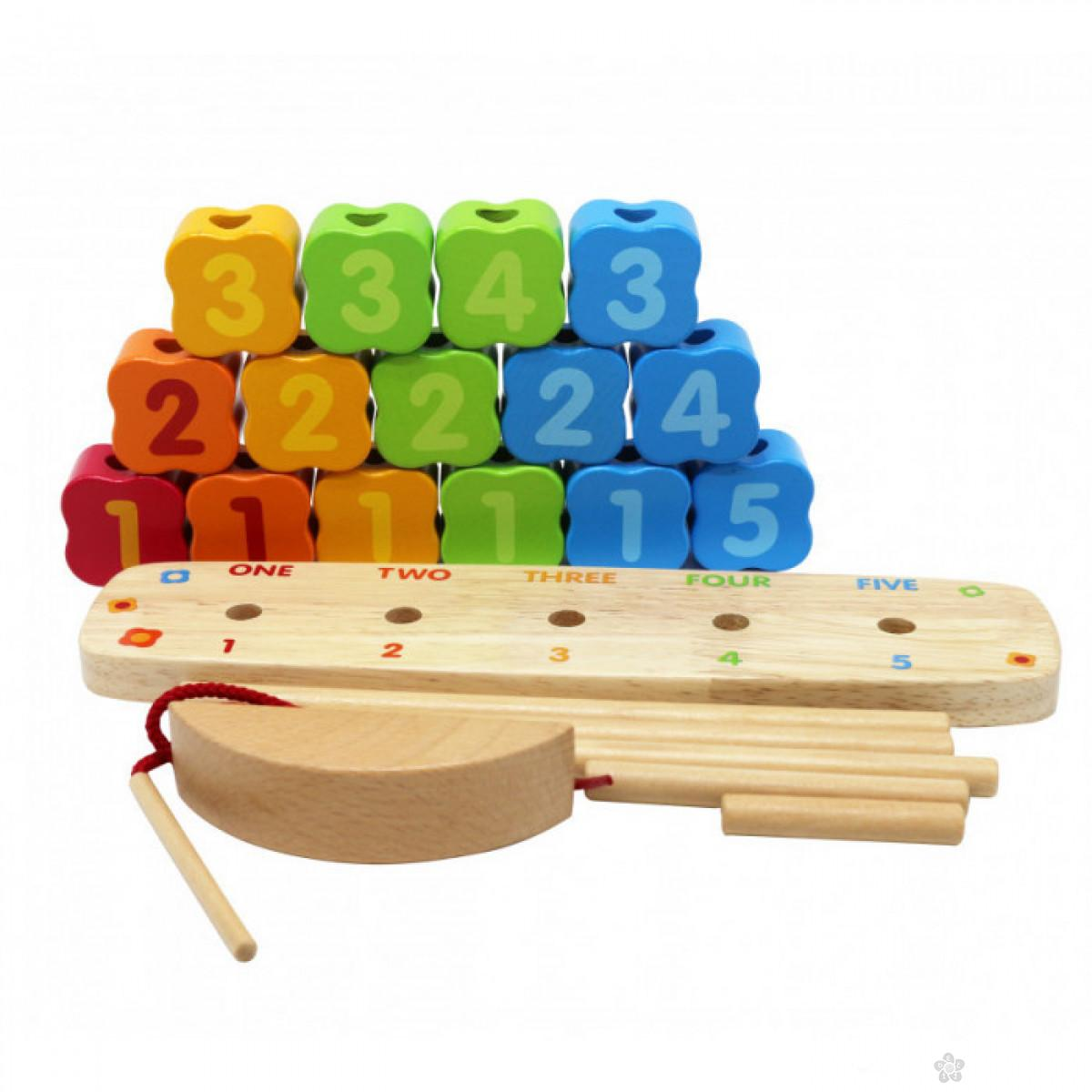 Drvena didaktička kocka 3 u 1, 8637