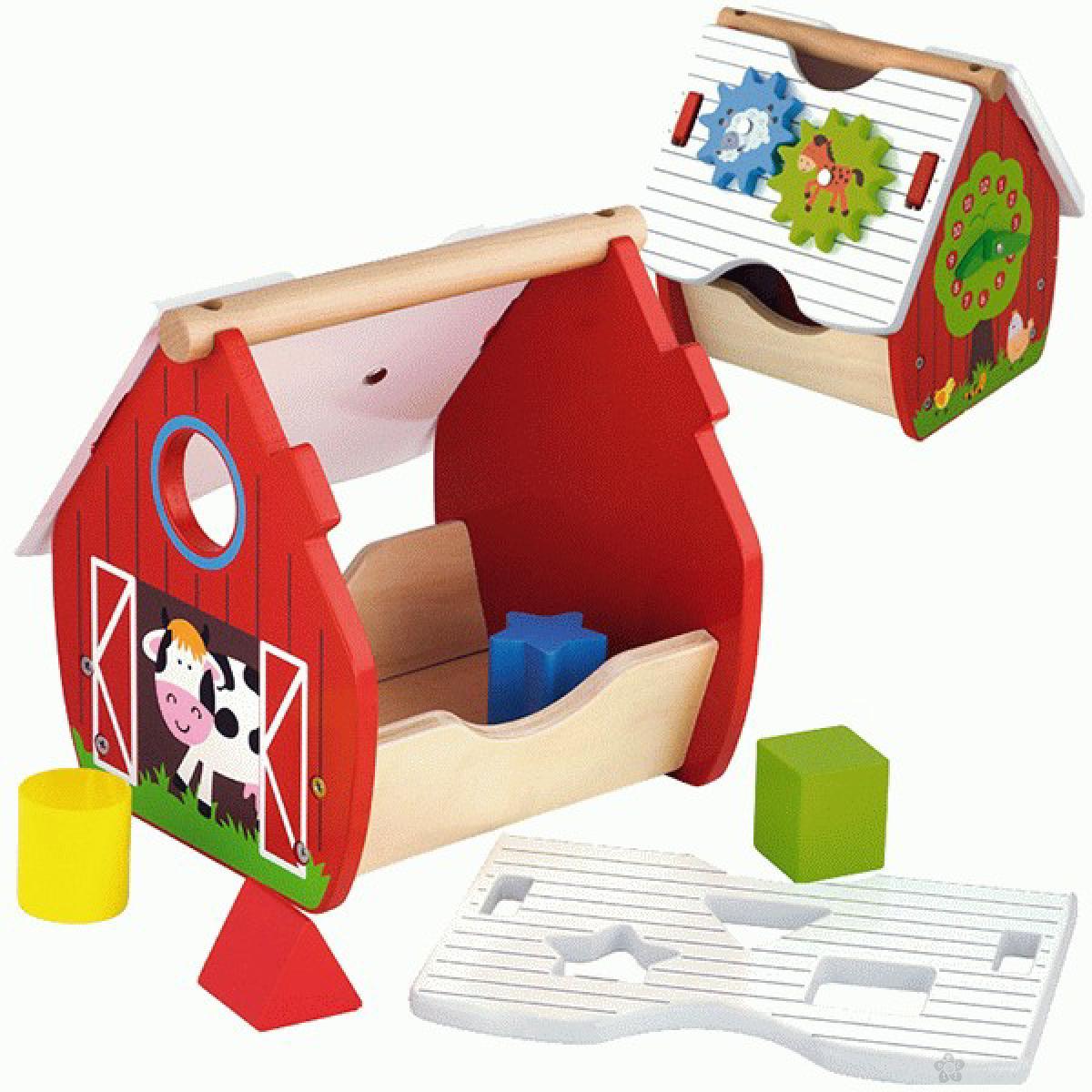 Drvena igračka aktiviti kućica farma Viga, 50533