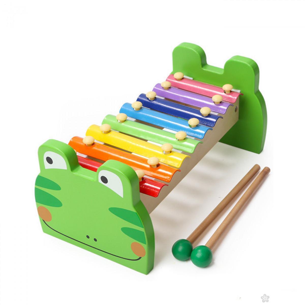 Drvena igračka ksilofon žabac ToP Bright 7136