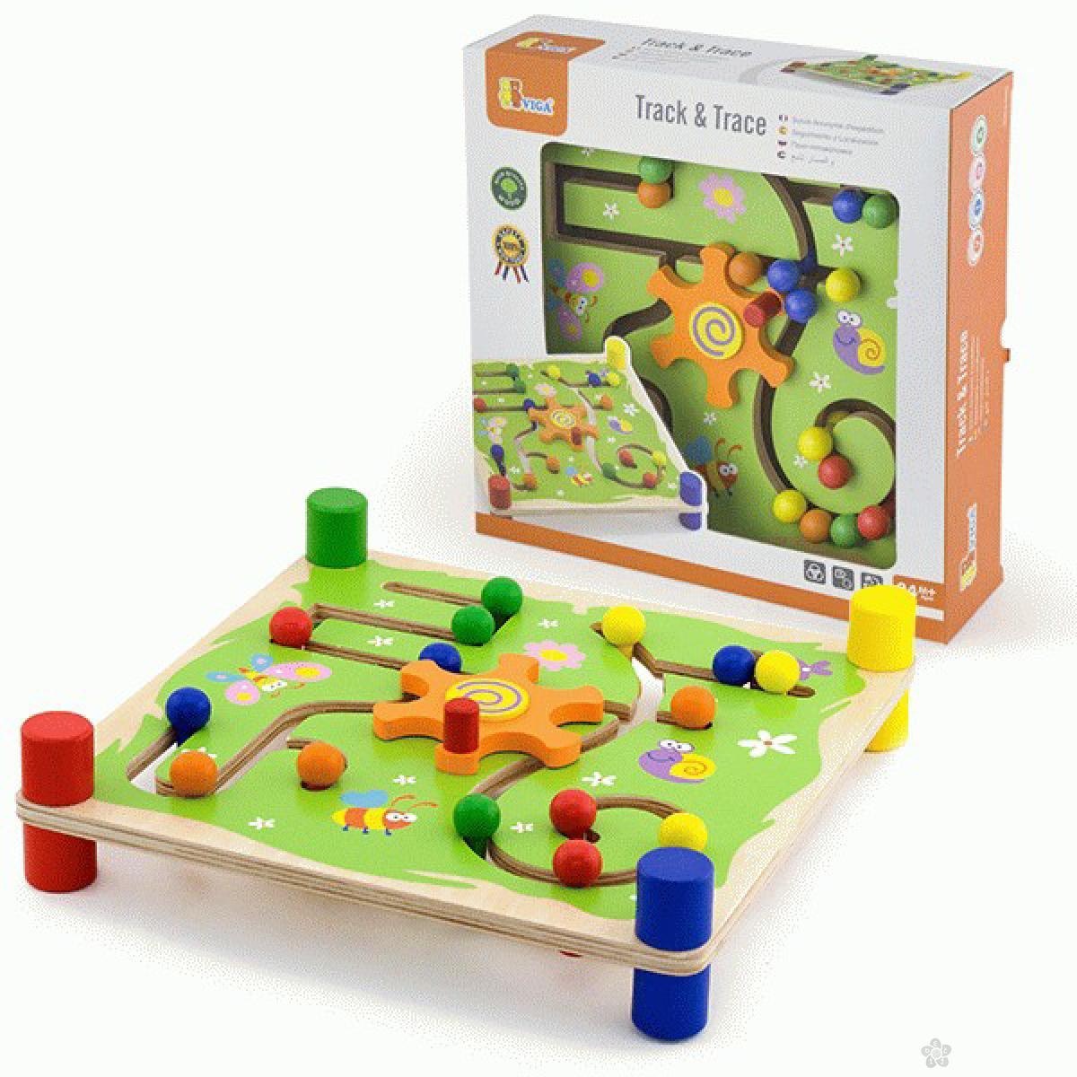 Drvena igračka lavirint sa zadacima Viga, 50175