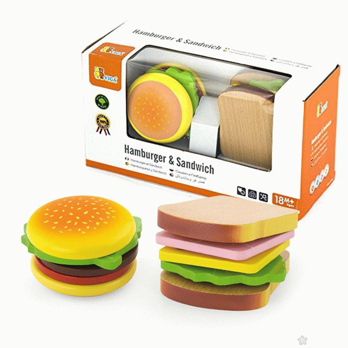 Drvena igračka pravimo hamburger Viga, 50810