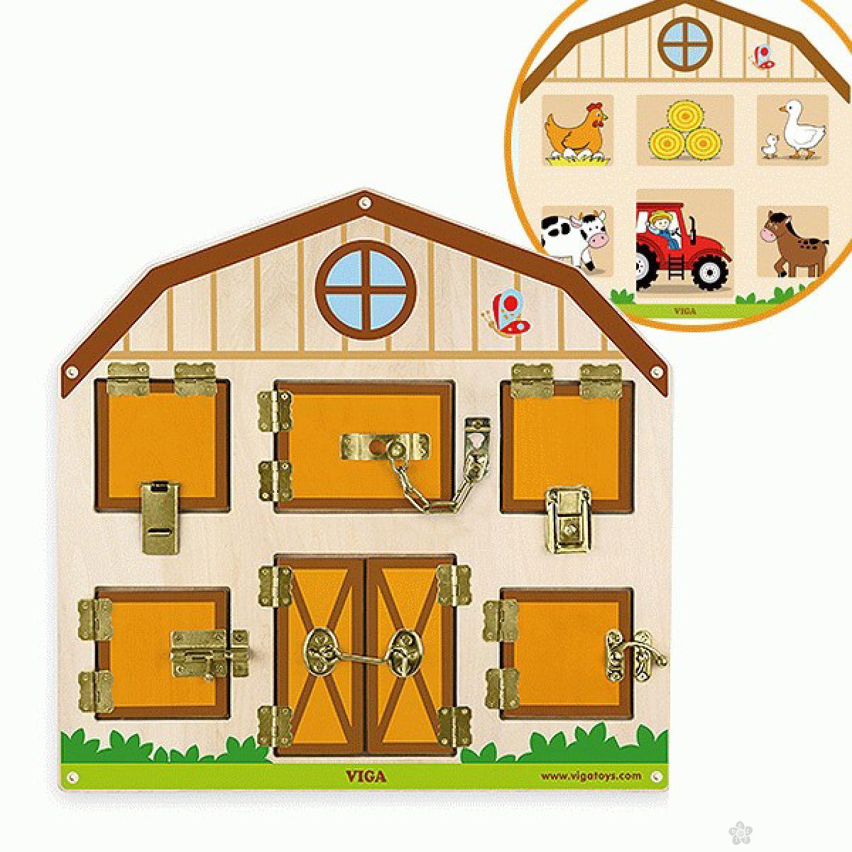 Drvena igračka zaključaj otključaj Viga, 51627