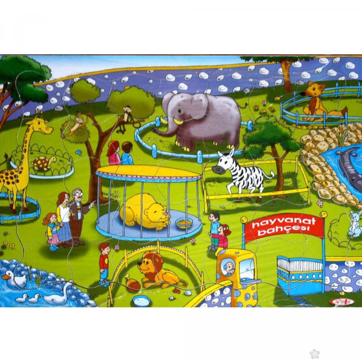 Drvene puzzle Zoo vrt
