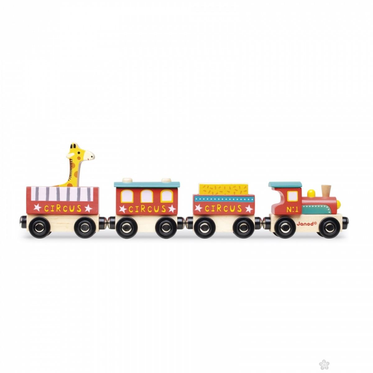 Drveni vozić Cirkus J08530