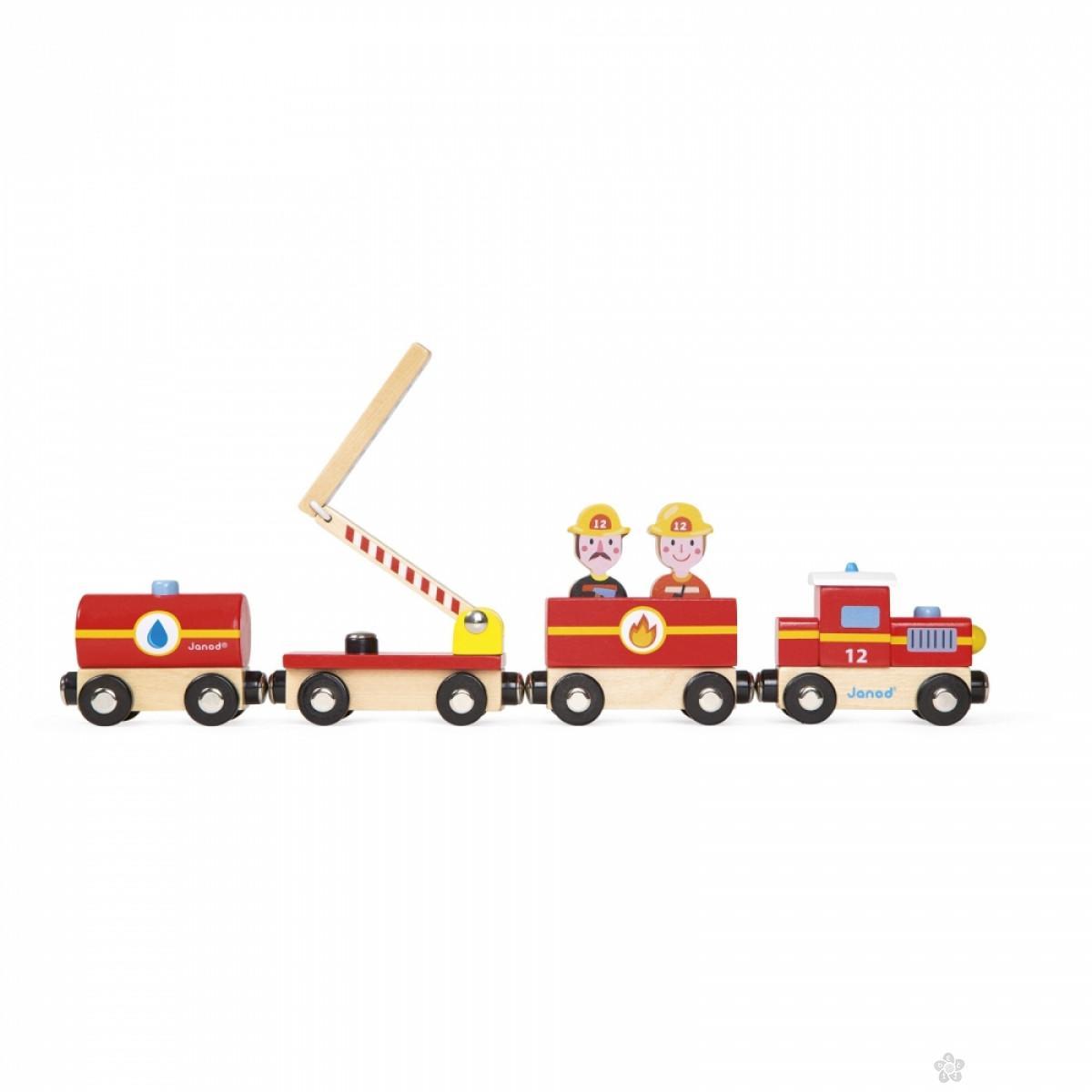Drveni vozić Vatrogasci J08540