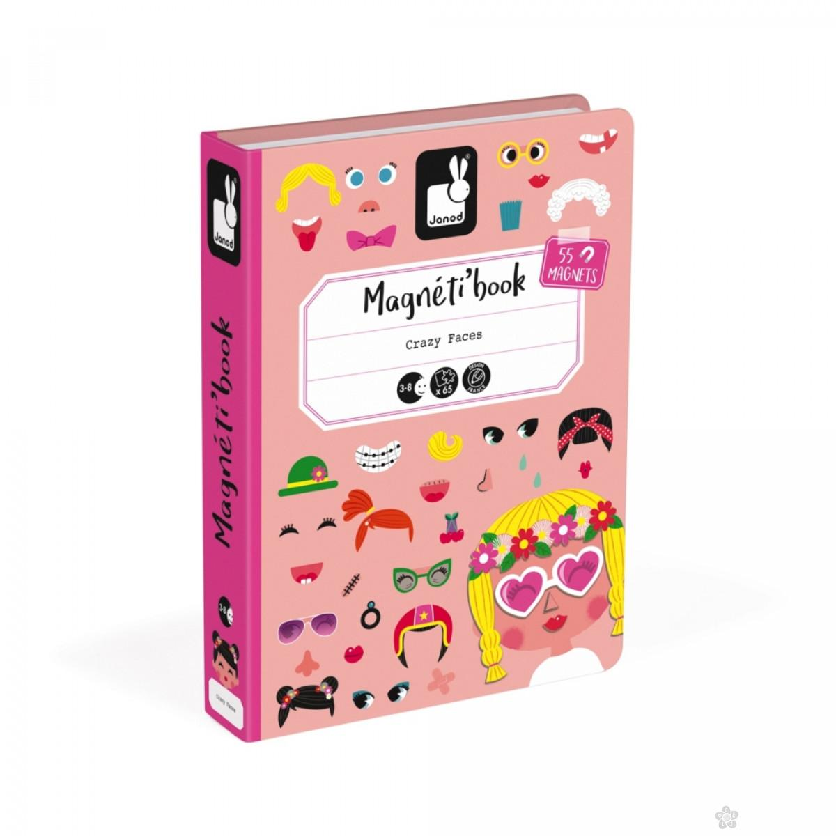 Magneti'book Smešna lica devojčica J02717