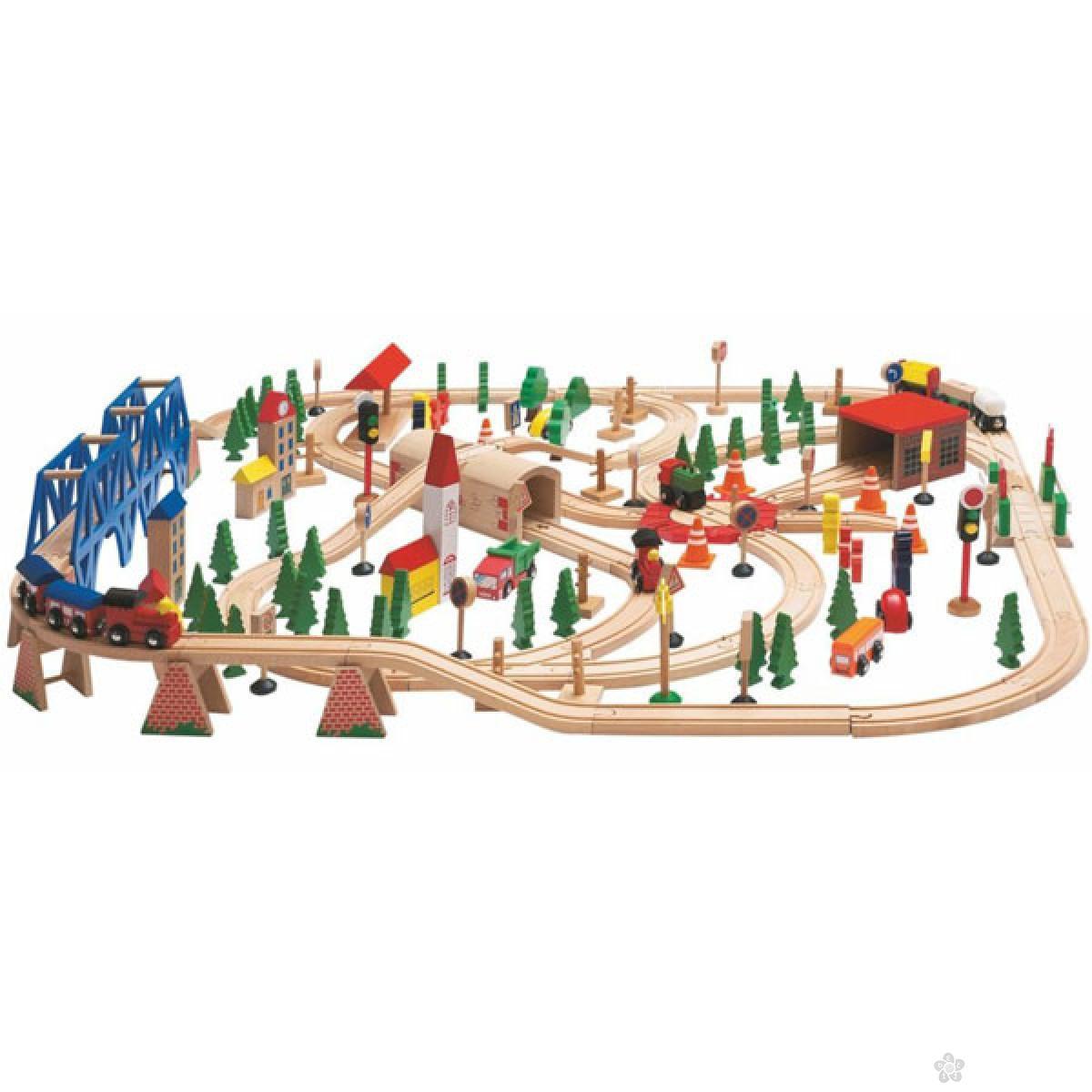 Železnički set u drvenoj kutiji Woody, 90578