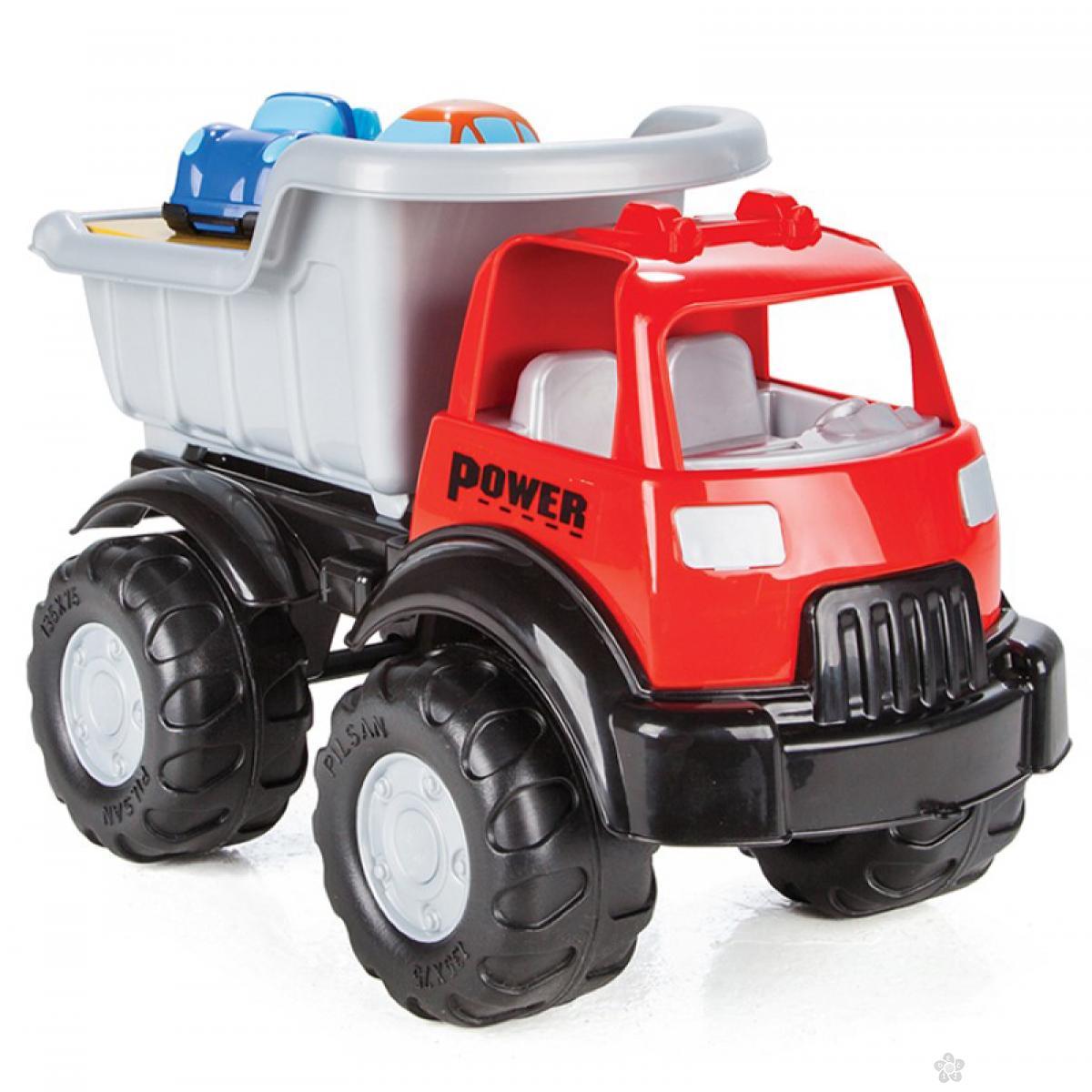 Kamion sa dva autića 06517