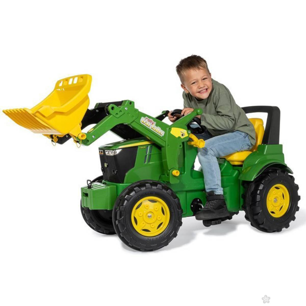 Traktor na pedale Farm John Deere 7310R sa utovarivačem 710300