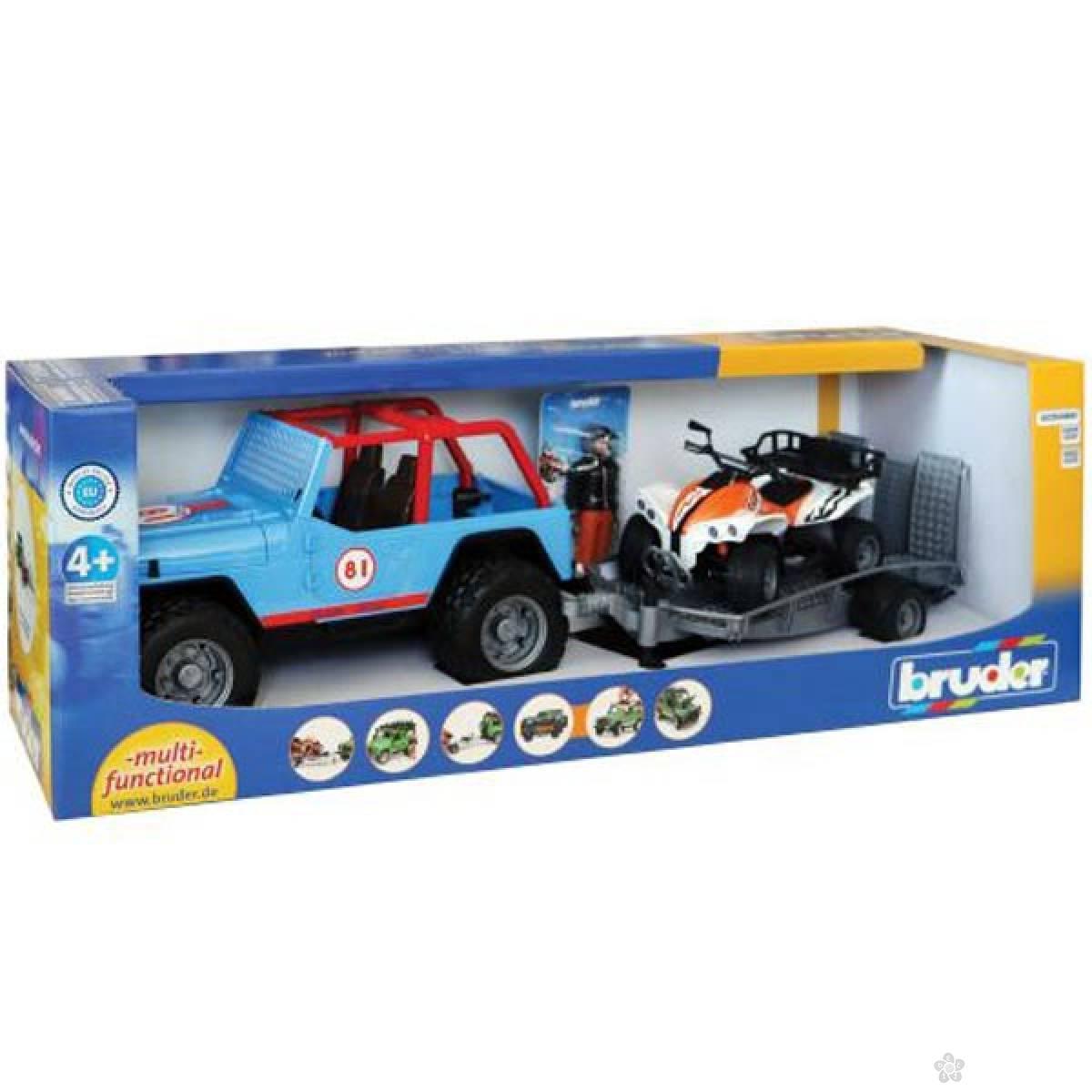 Džip Cross sa prikolicom i Quad motorom sa vozačem 016968