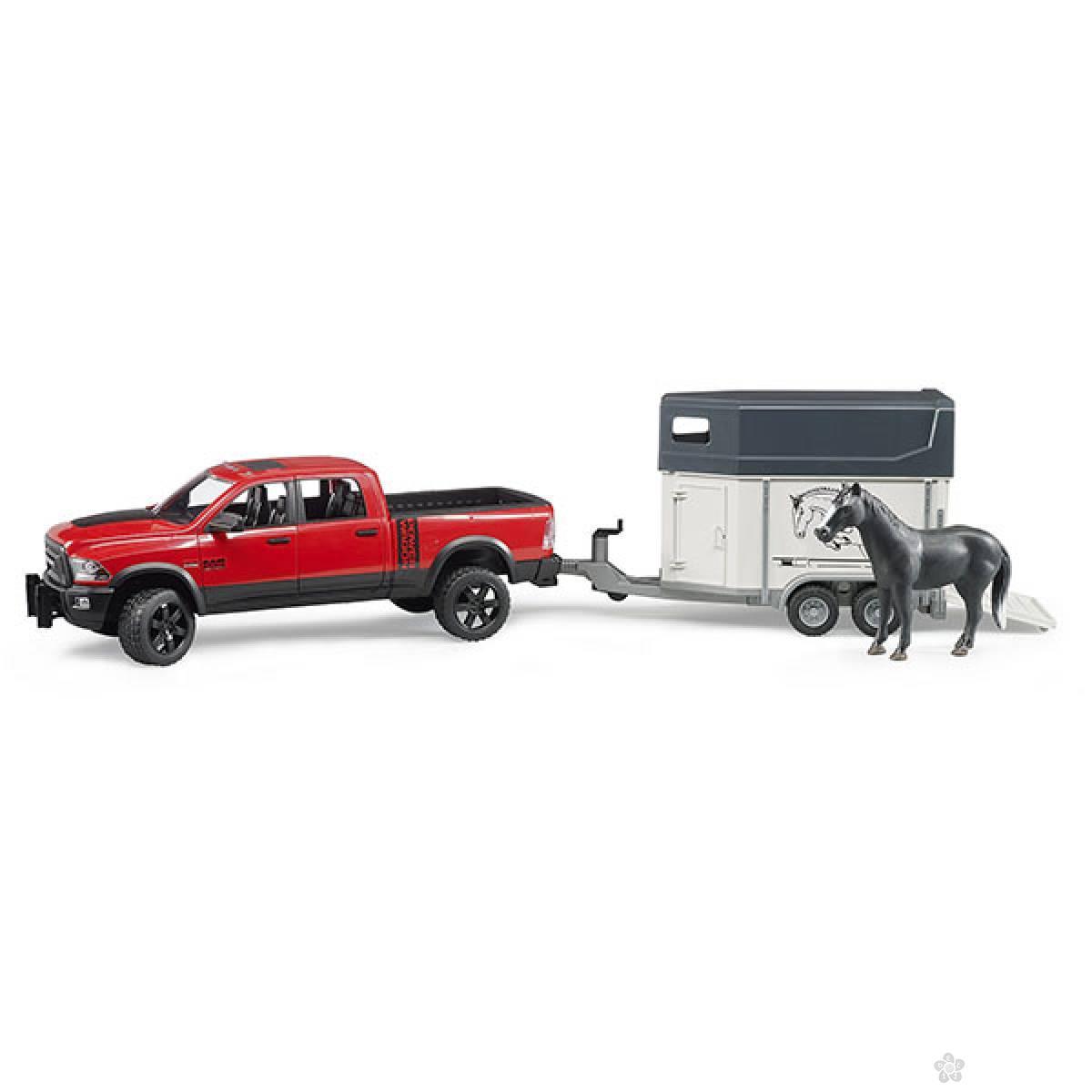Džip RAM 2500 sa Prikolicom za Konje i Figura 025014