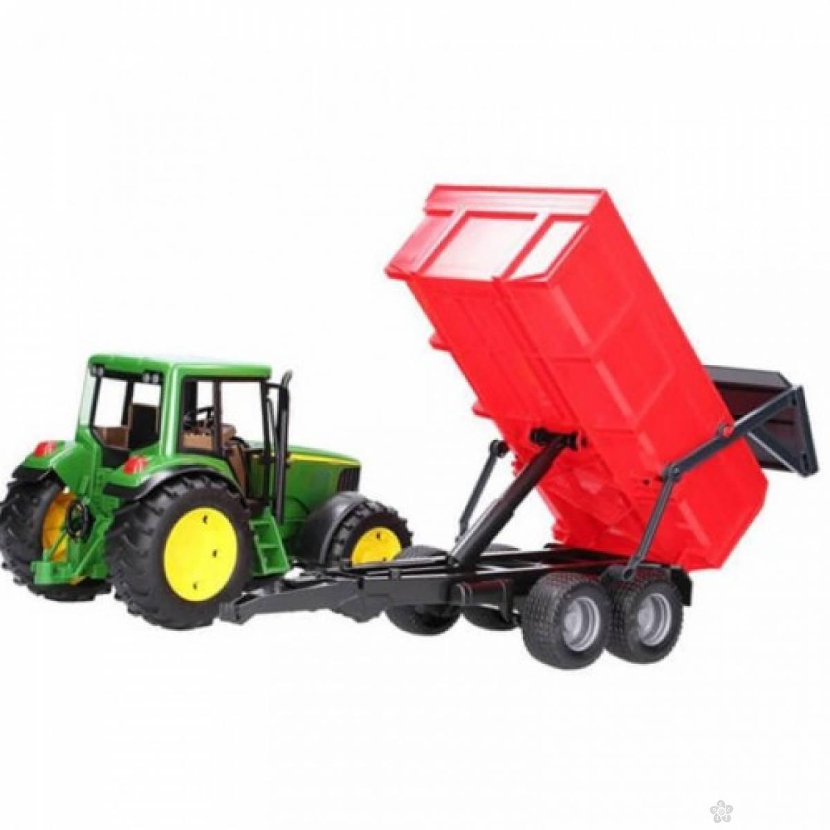 Traktor John Deere sa prikolicom i prednjim utovarivačem 011277