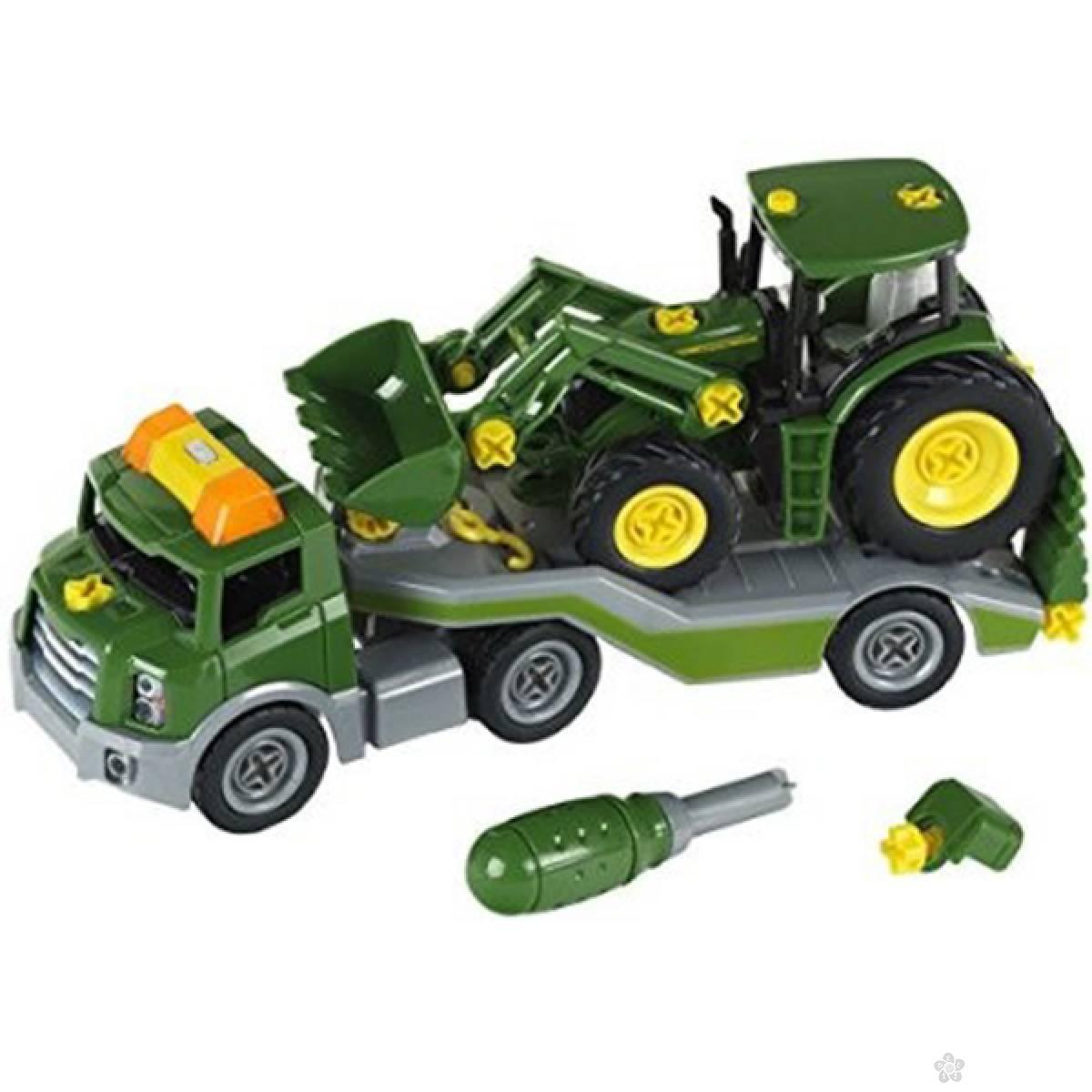 Transporter John Deere sa traktorom Klein KL3908