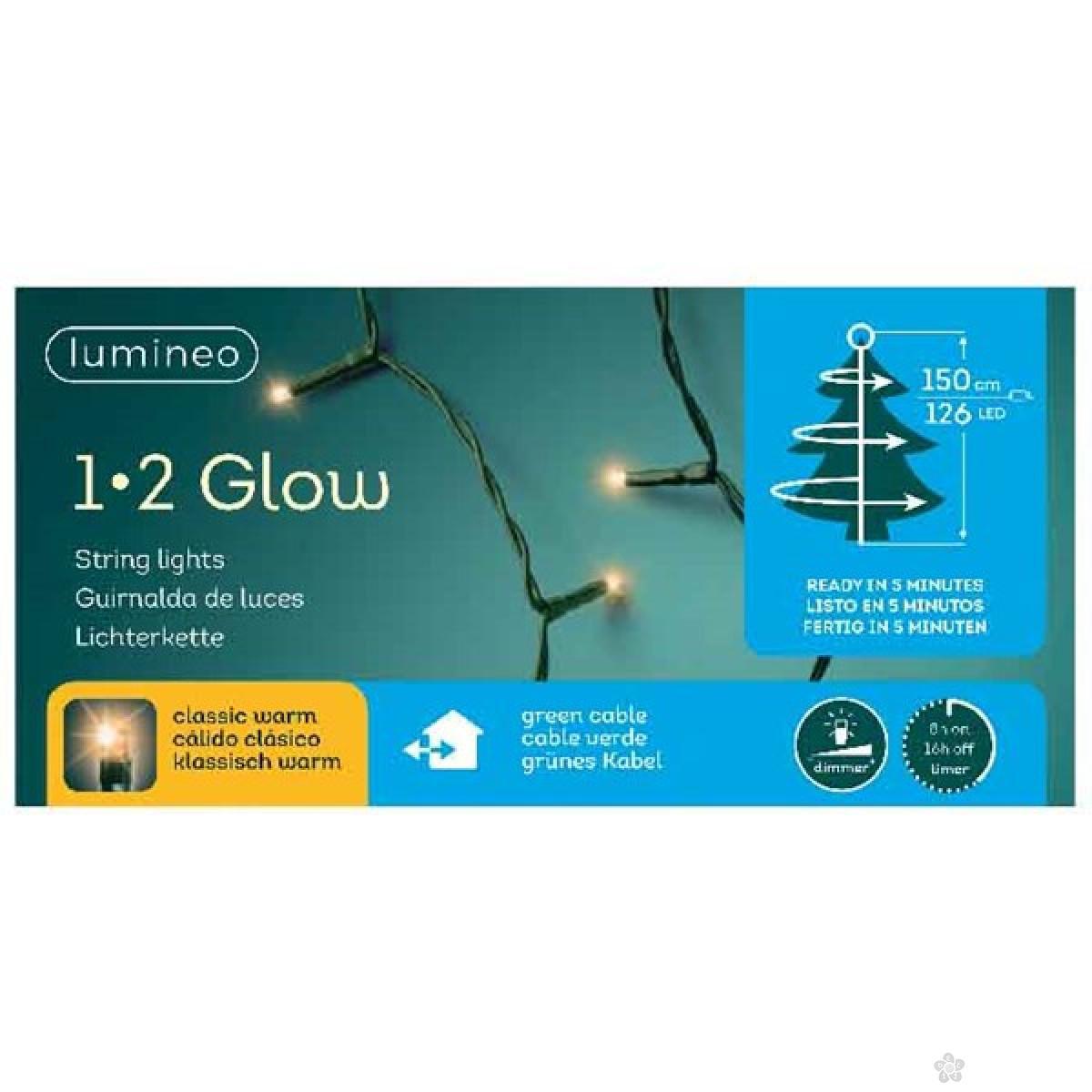 Novogodišnja LED rasveta za jelku 150cm-126L