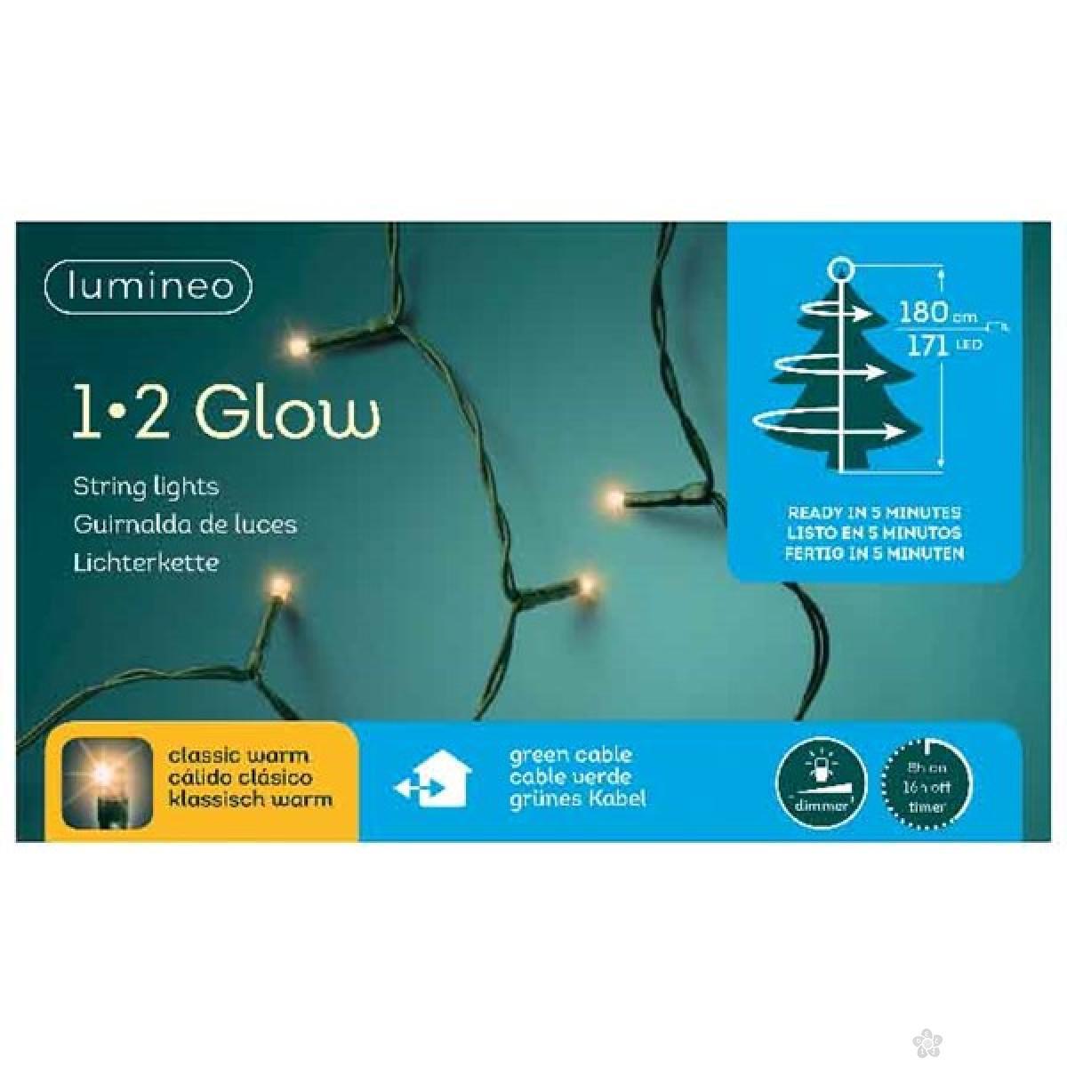 Novogodišnja LED rasveta za jelku 180cm-171L