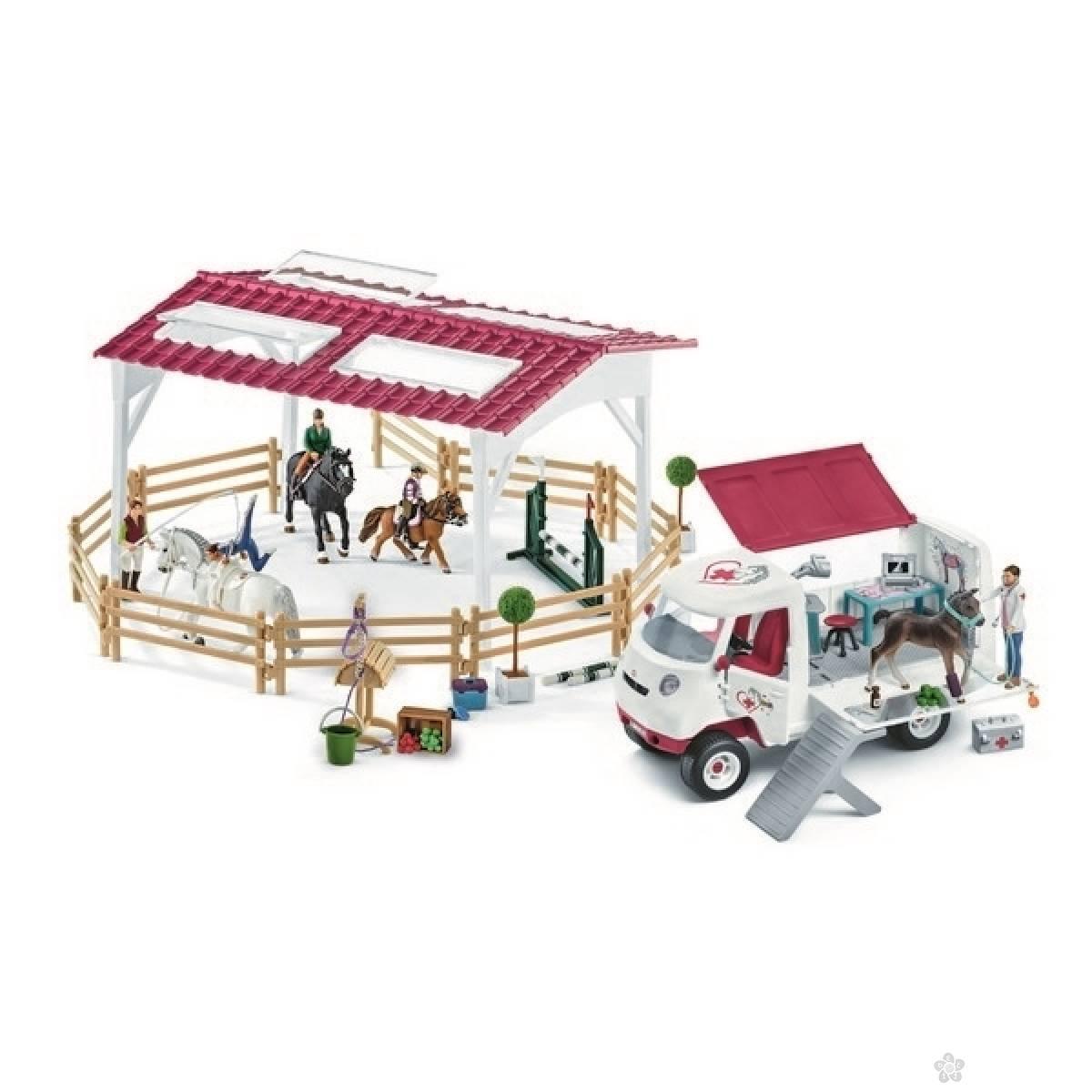 Set arena za jahanje i mobilna veterinarska stanica 72121