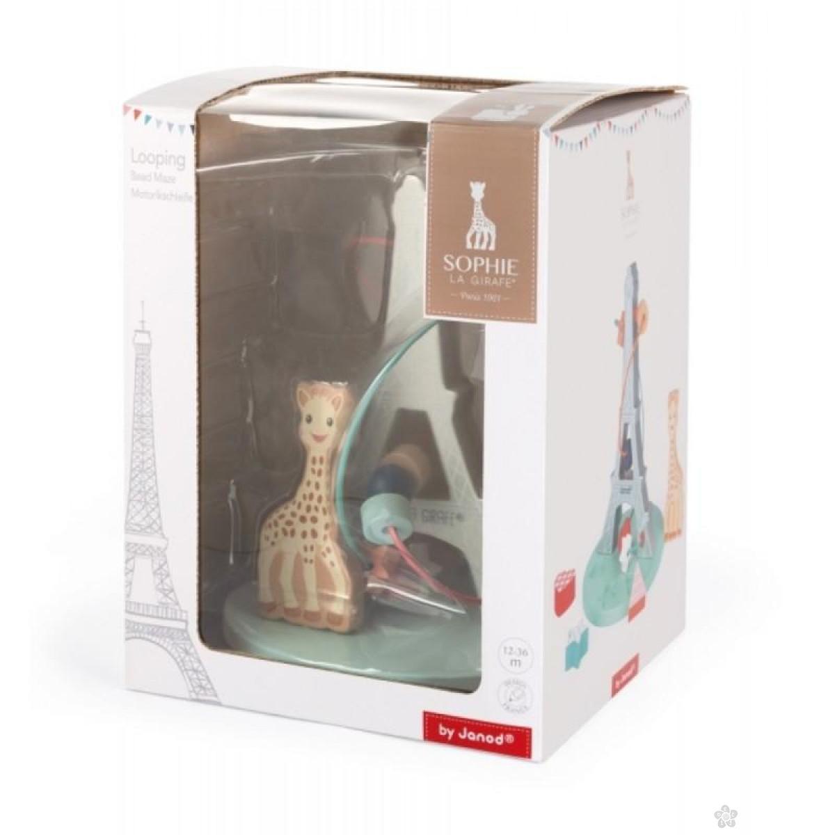 Drveni lavirint Sophie la Girafe J09504