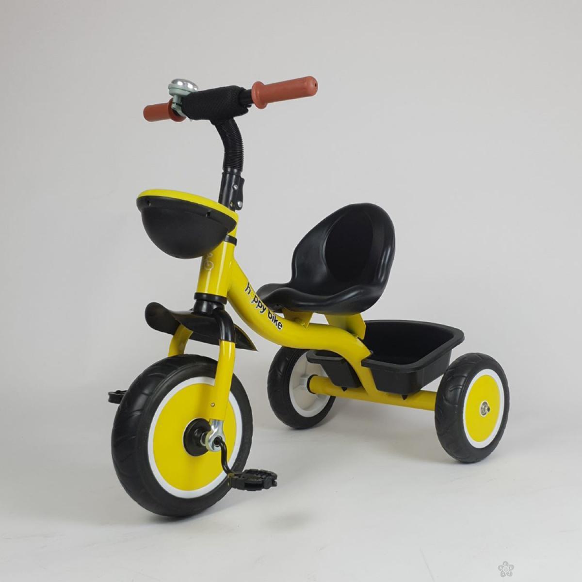 Tricikl HappyBike Denis model 427 žuti