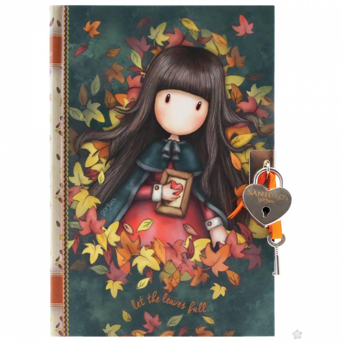 Dnevnik sa ključićem Autumn Leaves 815GJ05