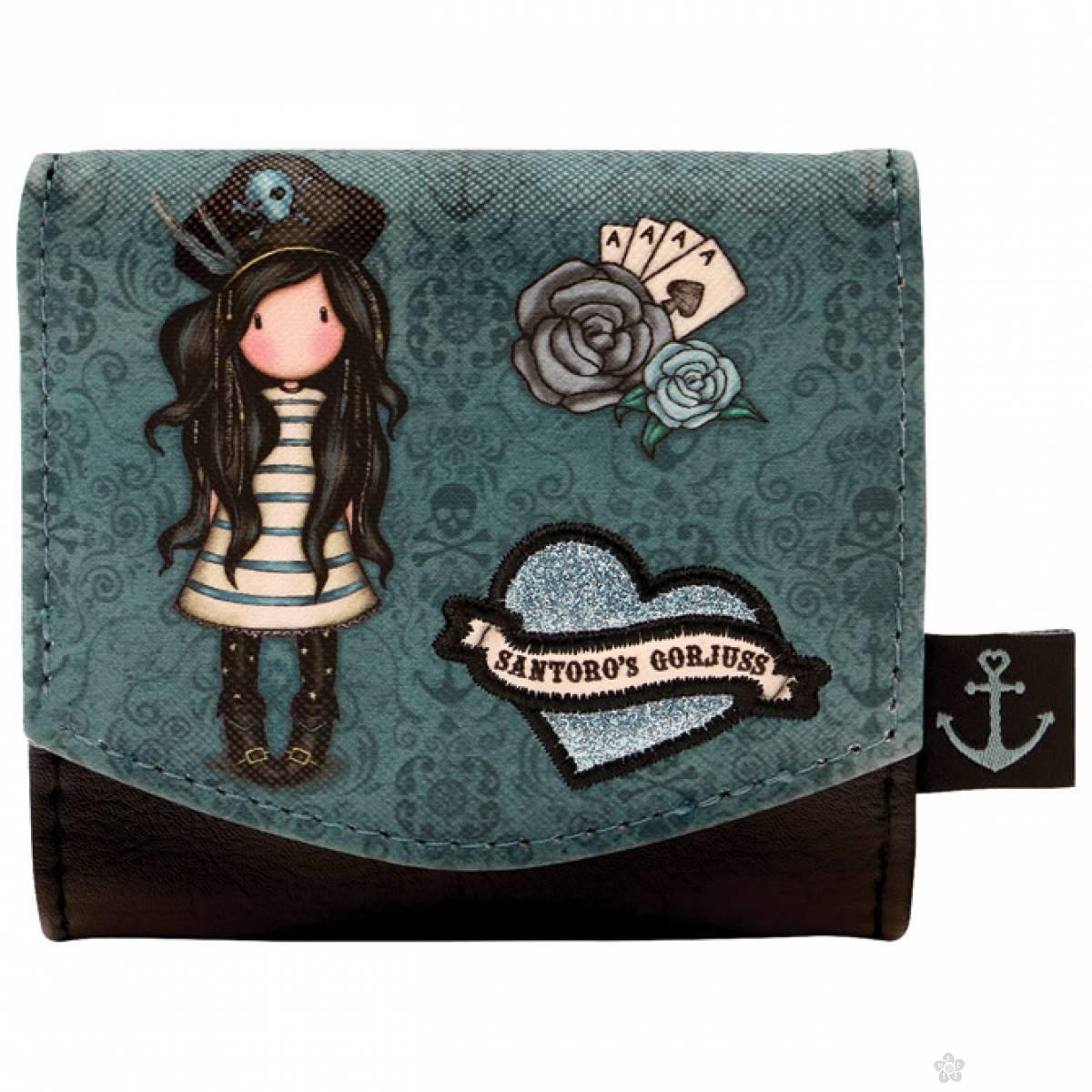 Novčanik na preklop Black Pearl 1074GJ01
