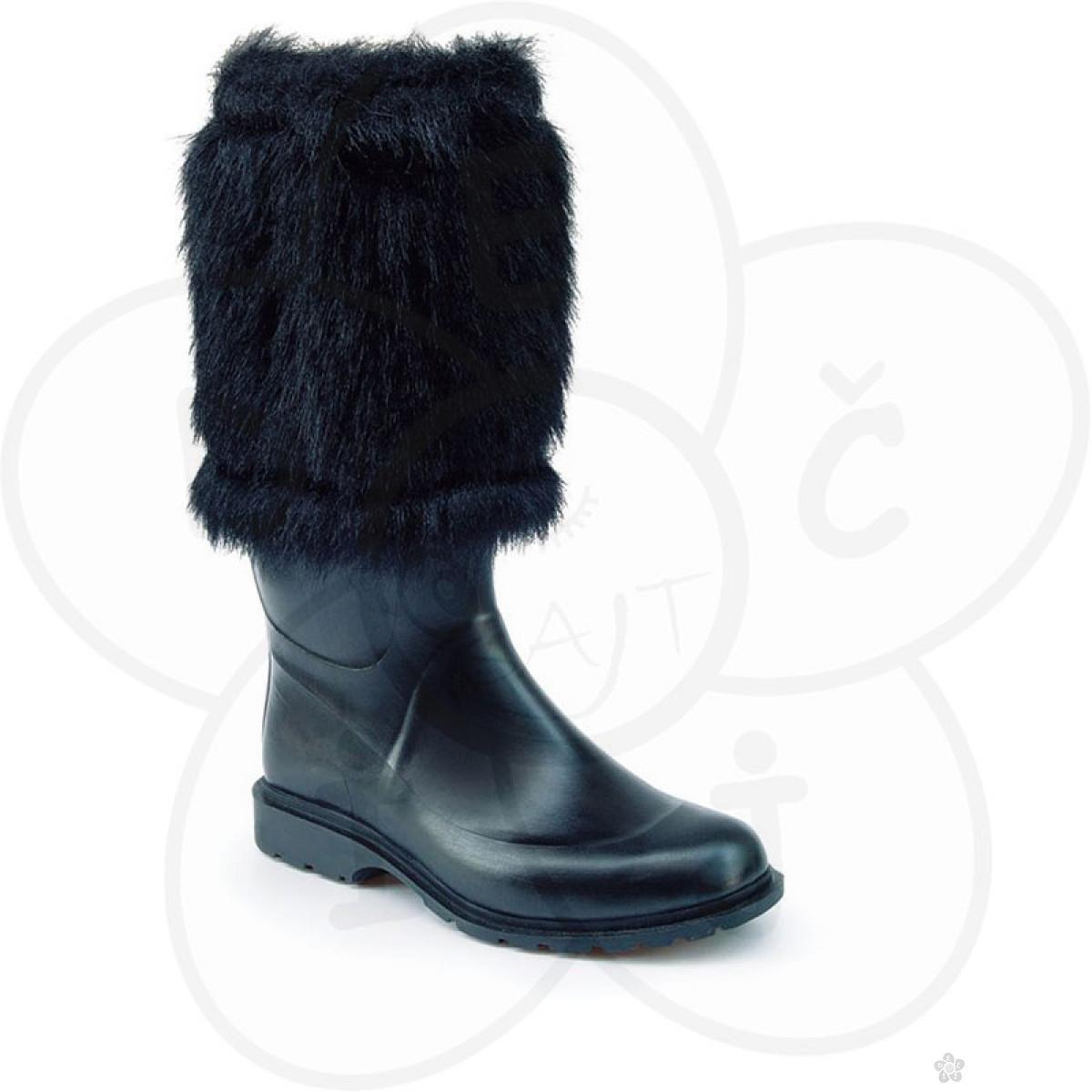 Maniera čizme Classic&Fur, crne