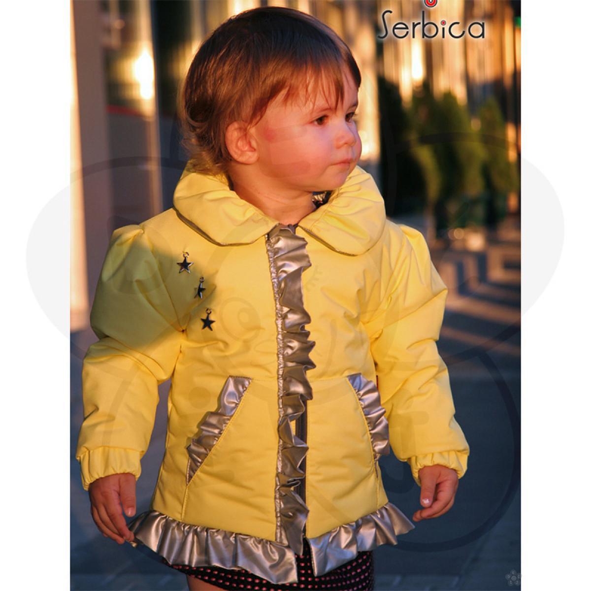 Žuta jaknica za devojčice