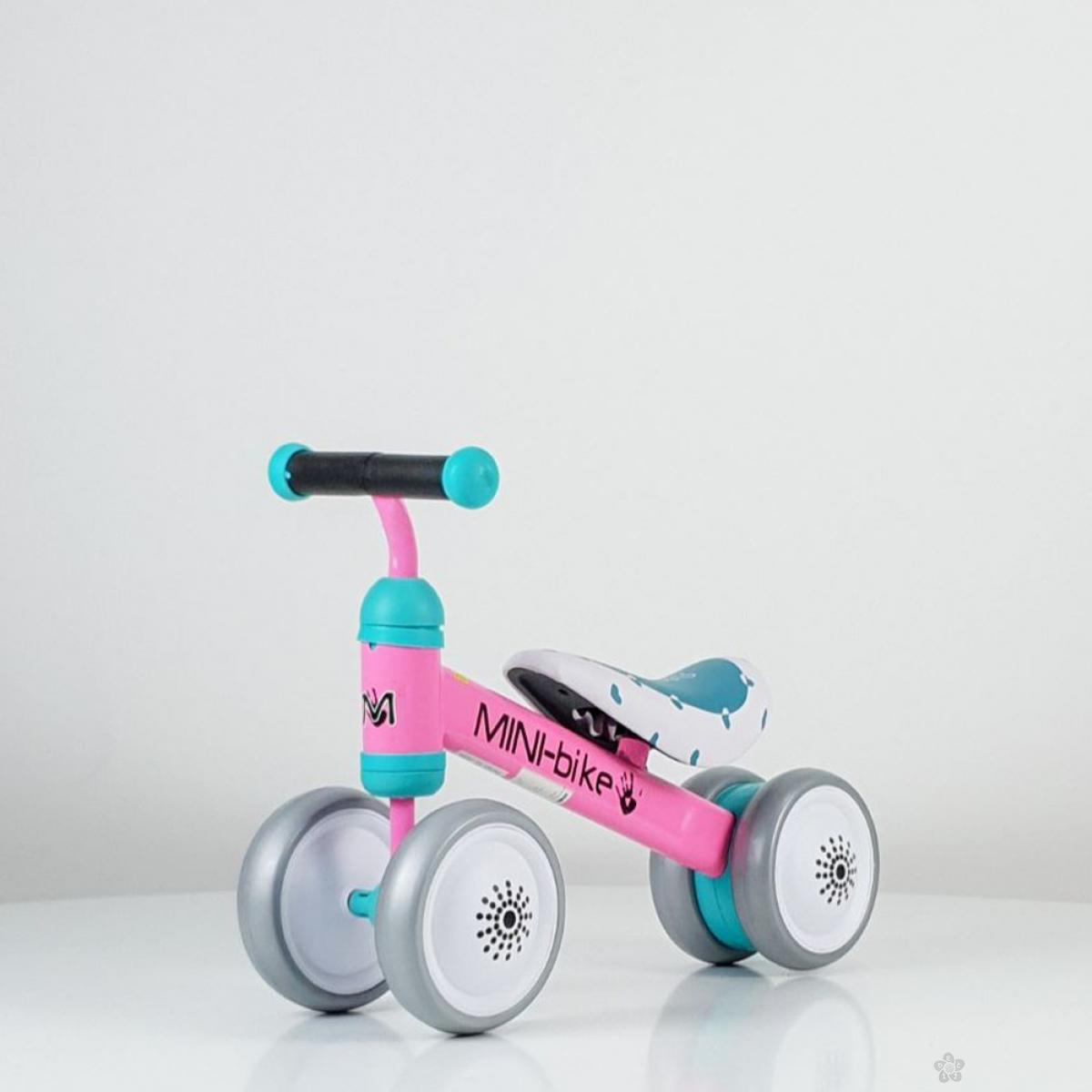 Baby bicikl balans model 753 tirkizno-roze
