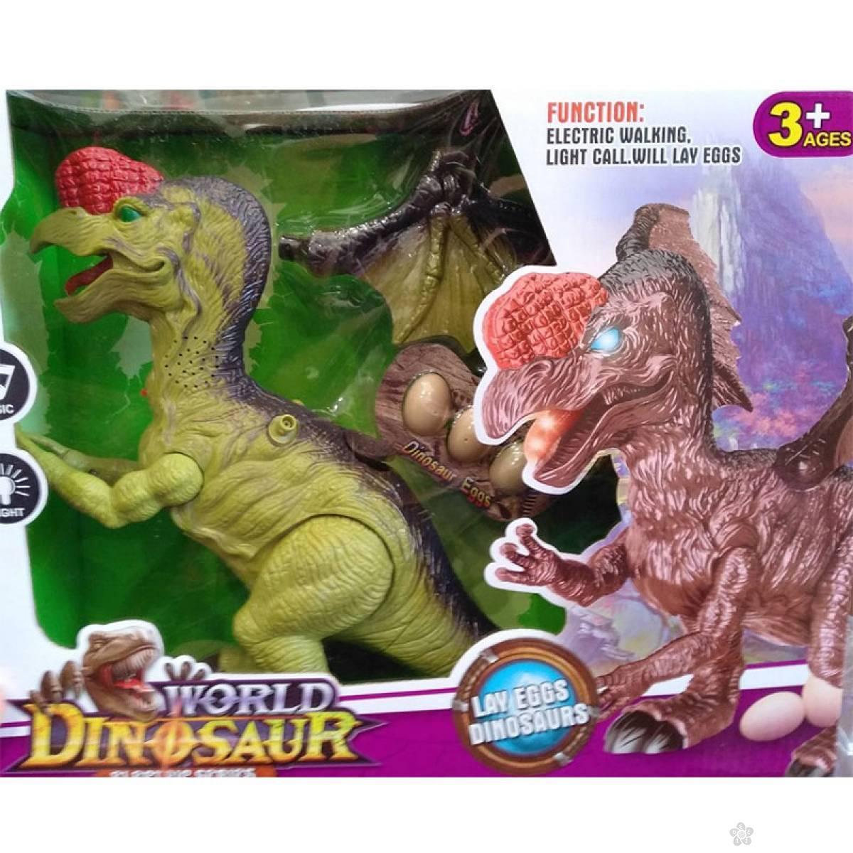 Dinosaurus na baterije + 3 jaja