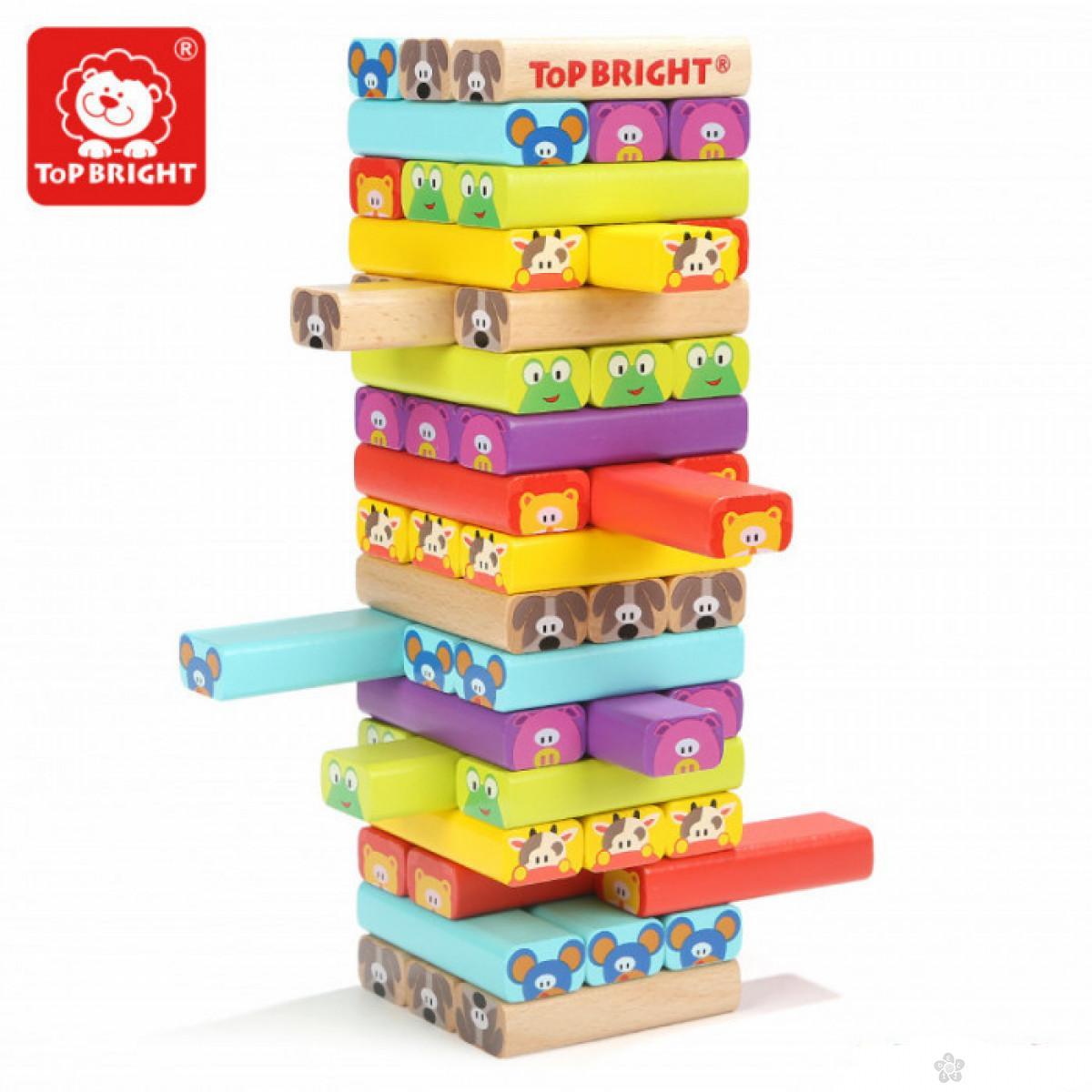Društvena igra Jenga životinje ToP Bright  120314