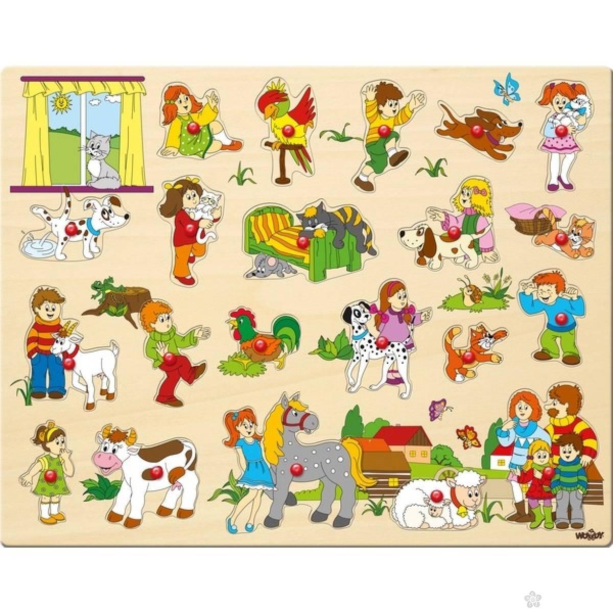 Drvene puzzle - ljubimci 91912