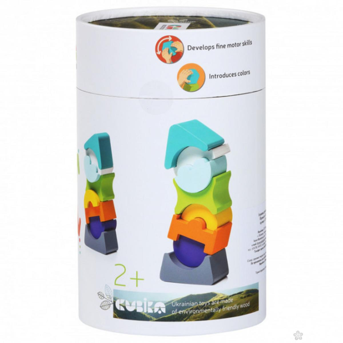 Drveni balans toranj Cubica 8 elemenata 12701