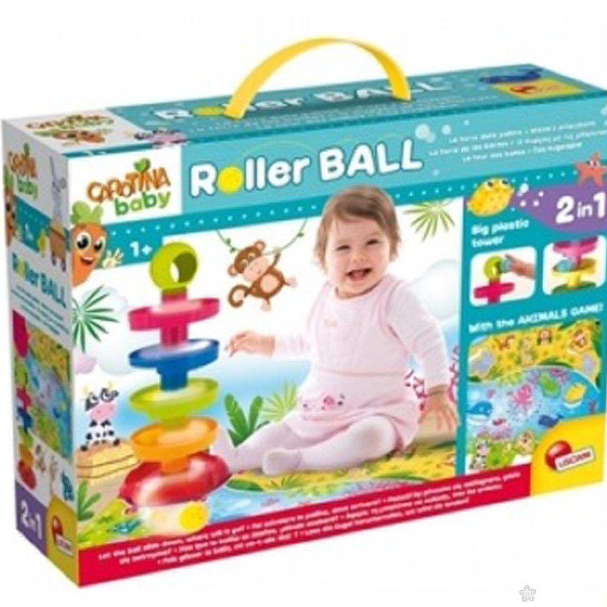 Edukativni baby set 2u1 sa igrom zivotinja i Roller ball 43457