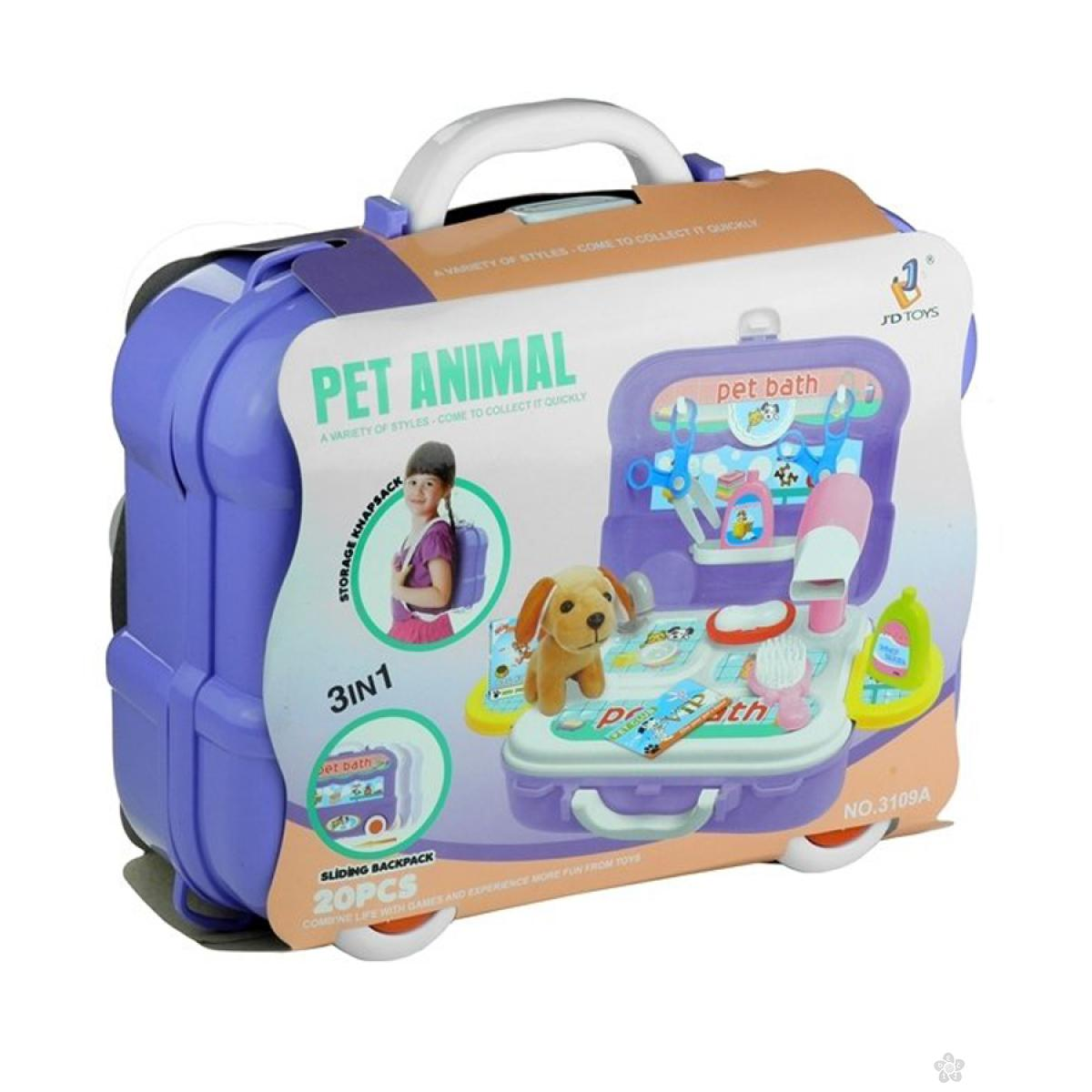Kofer set za negu ljubimaca 59124