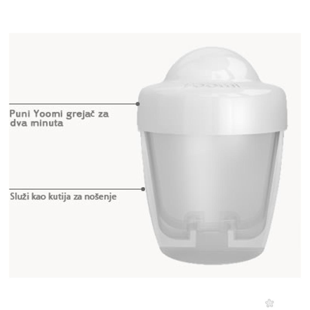 Set bočica 140 ml+grejač+cucla sa malim otvorom+kutija za grejač Yoomi, Y15B1W1P