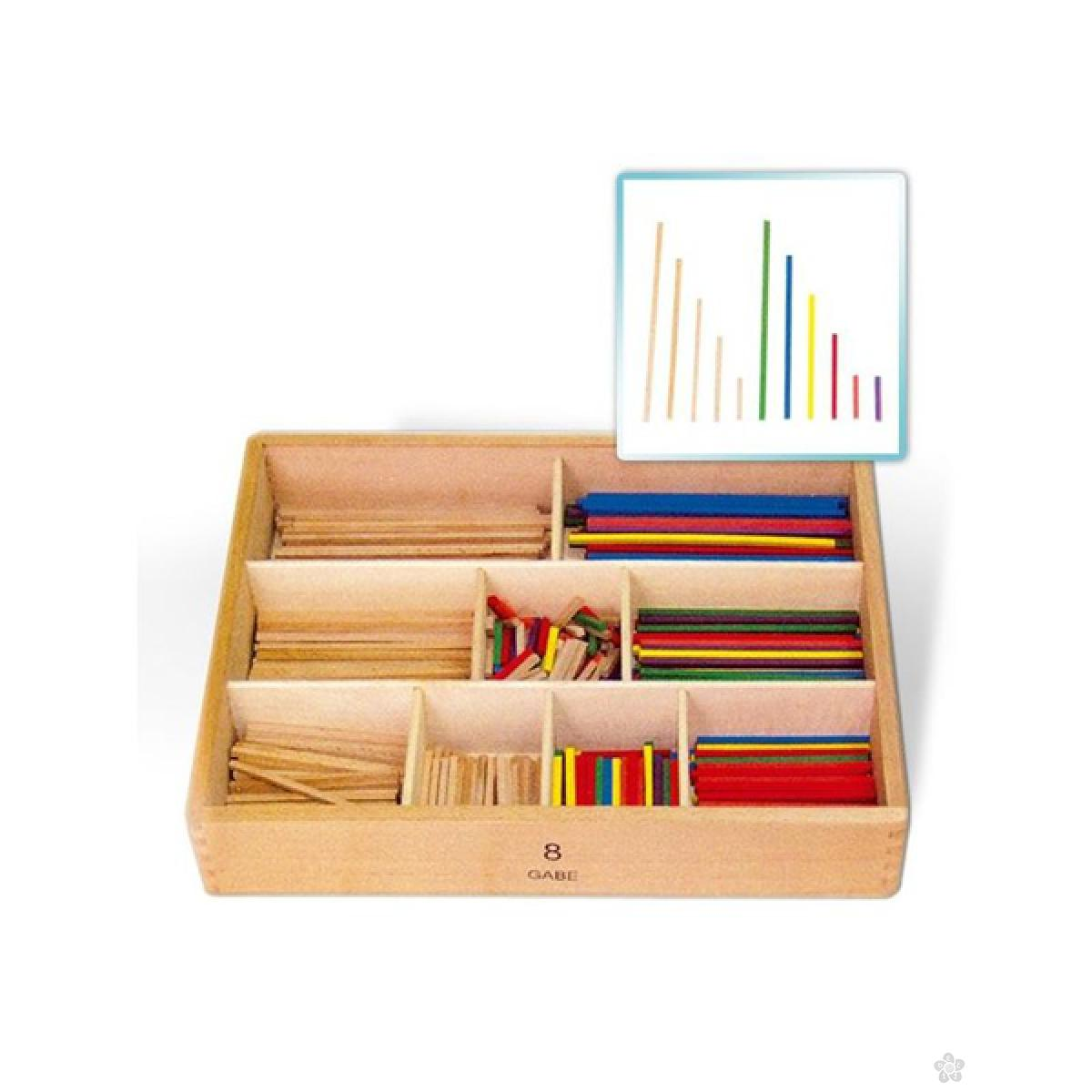 Matematički štapići u kutiji Viga, 58871