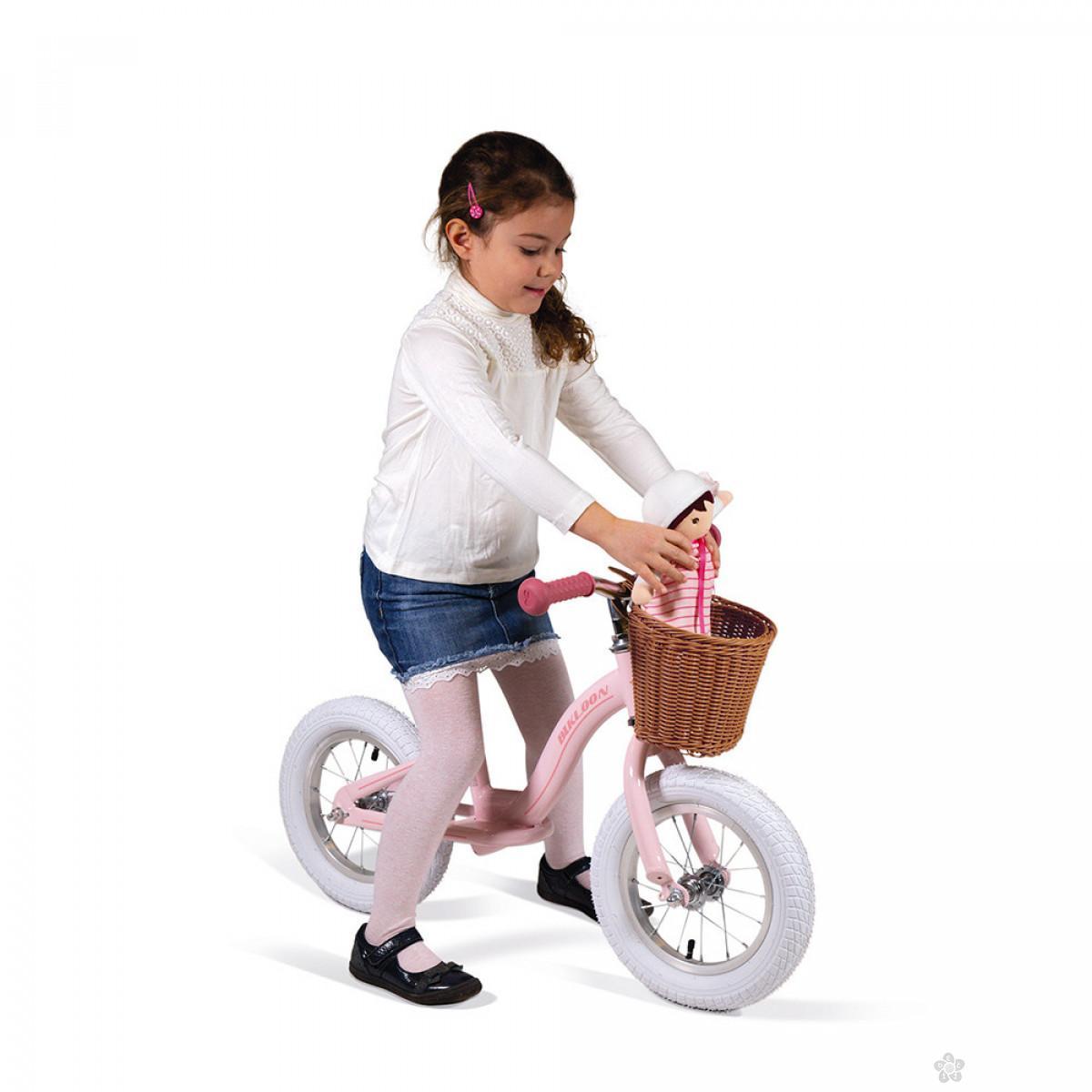Metalni balans bicikl Vintage Pink J03295