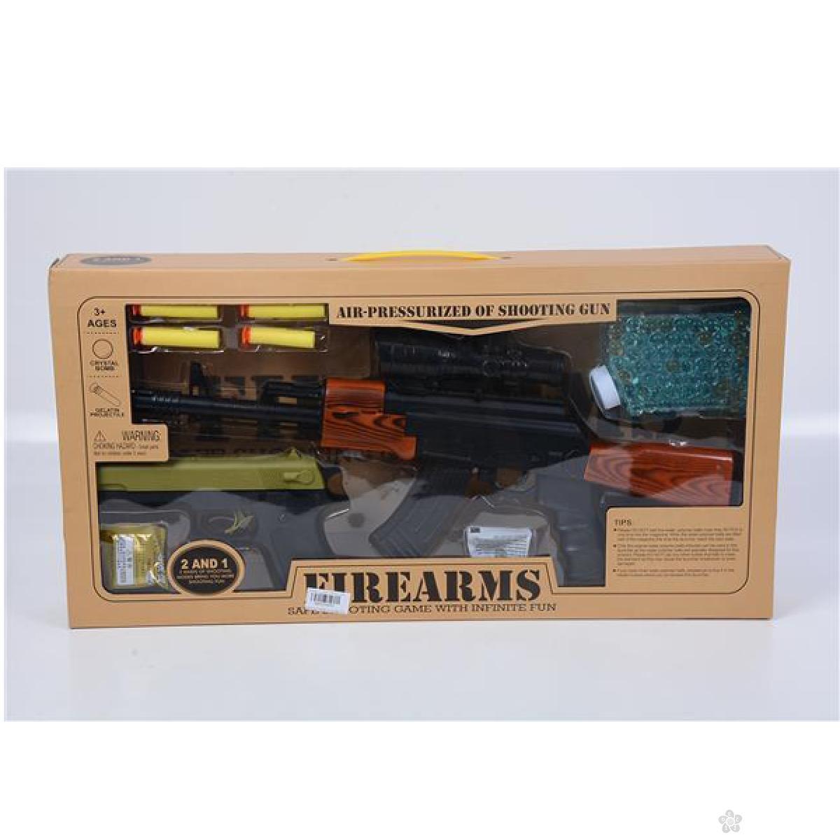 Puška i pištolj sa mekanim i vodenim mecima 11/48097
