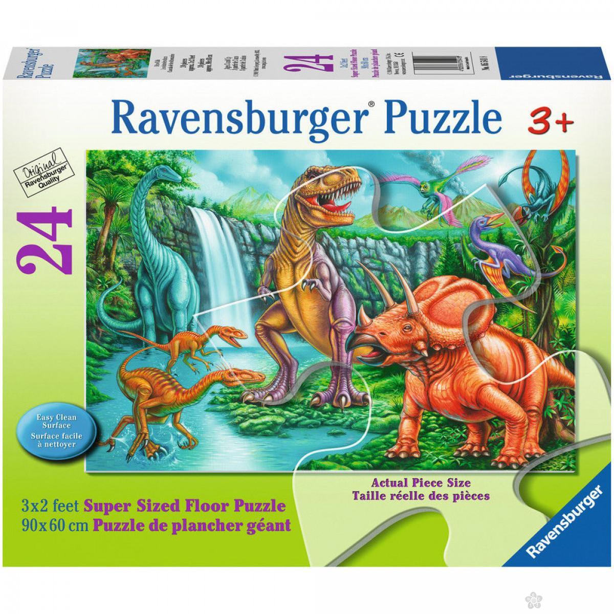 Ravensburger puzzle (slagalice) - Velike podne puzle Dinosaurus, RA05541