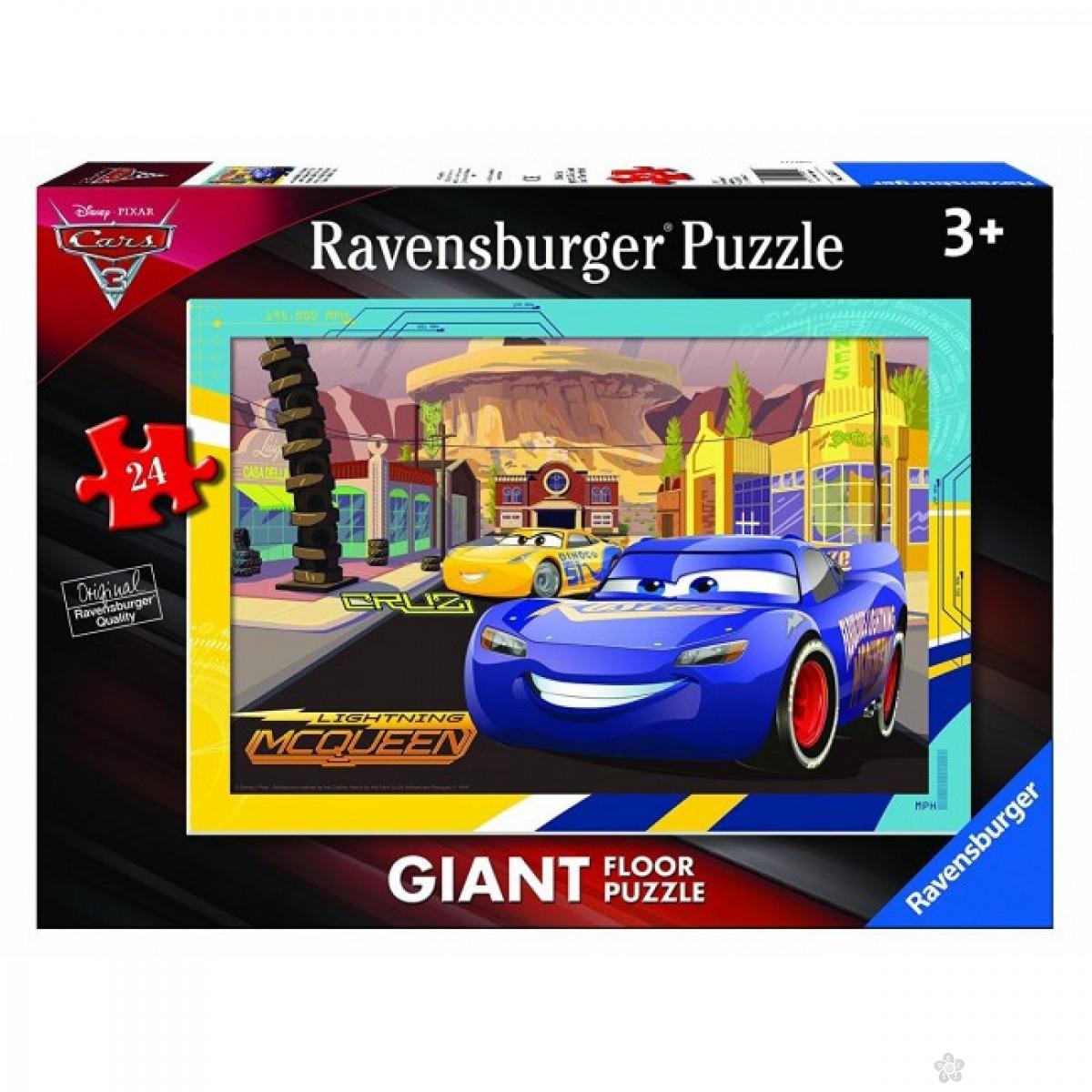 Ravensburger puzzle (slagalice) - Velike podne puzle Cars, RA05519