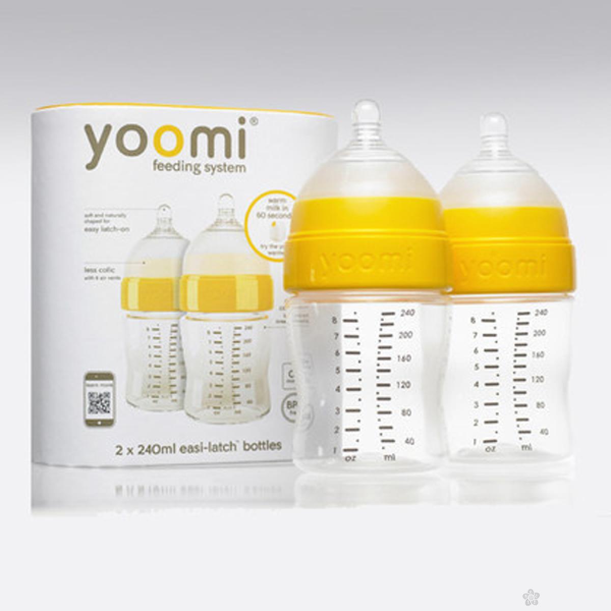 Set dve bočice 240ml + cucla sa malim otvorom Yoomi, Y28B