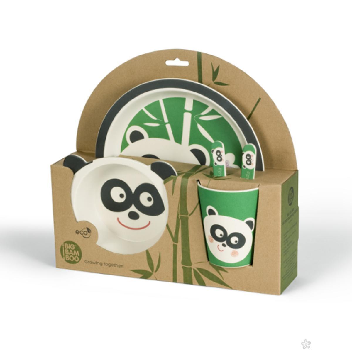 Set za hranjenje od bambusa Panda