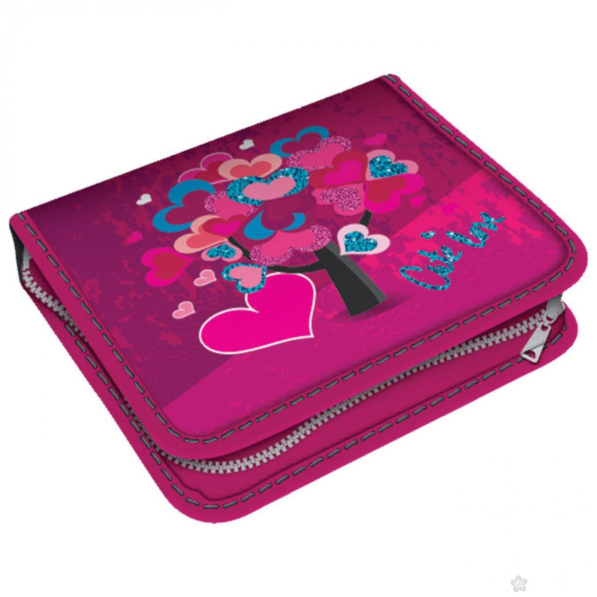 Pernica puna 1 zip, dva preklopa Cute Love 1A, 26815
