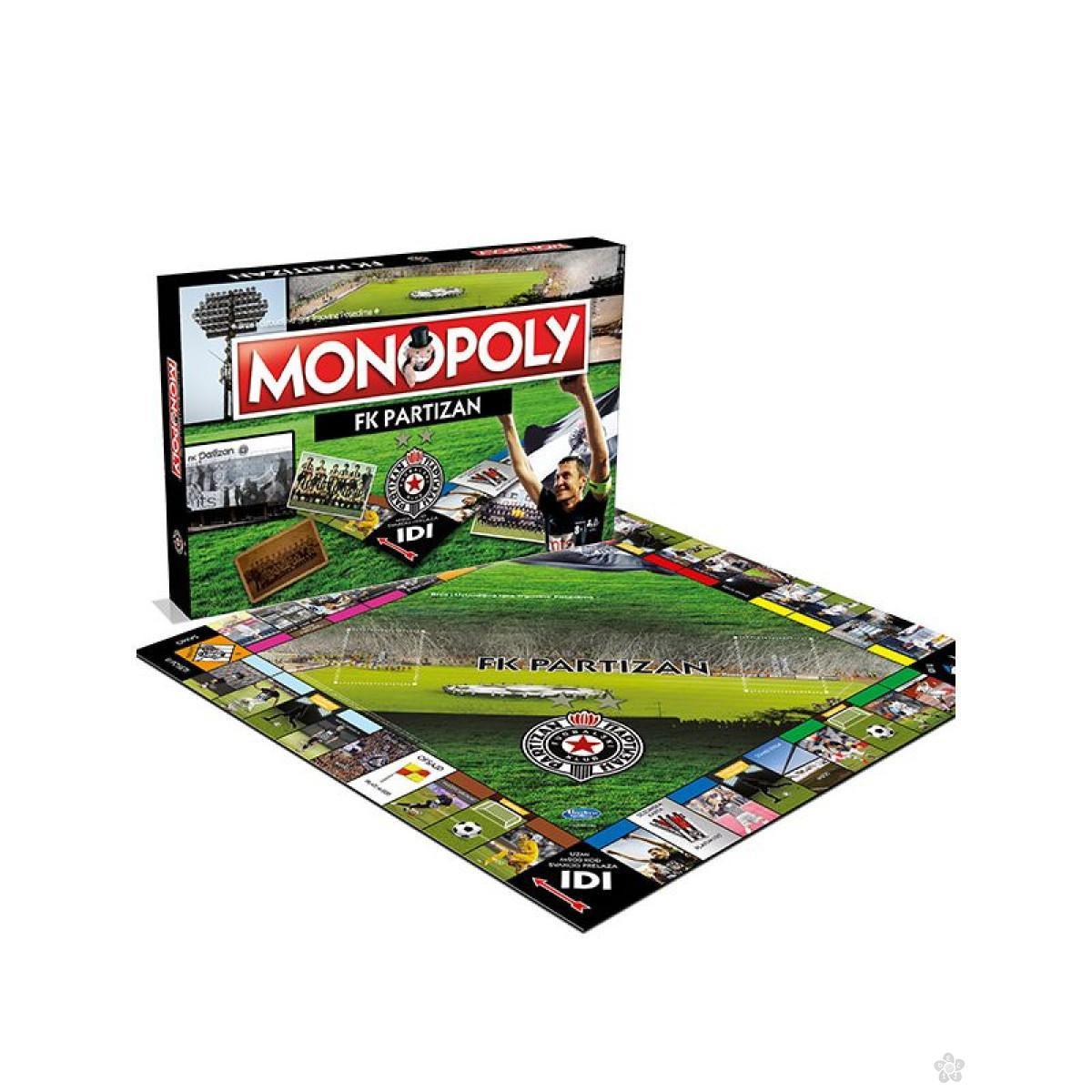 Društvena igra Monopol FK Partizan, 001991