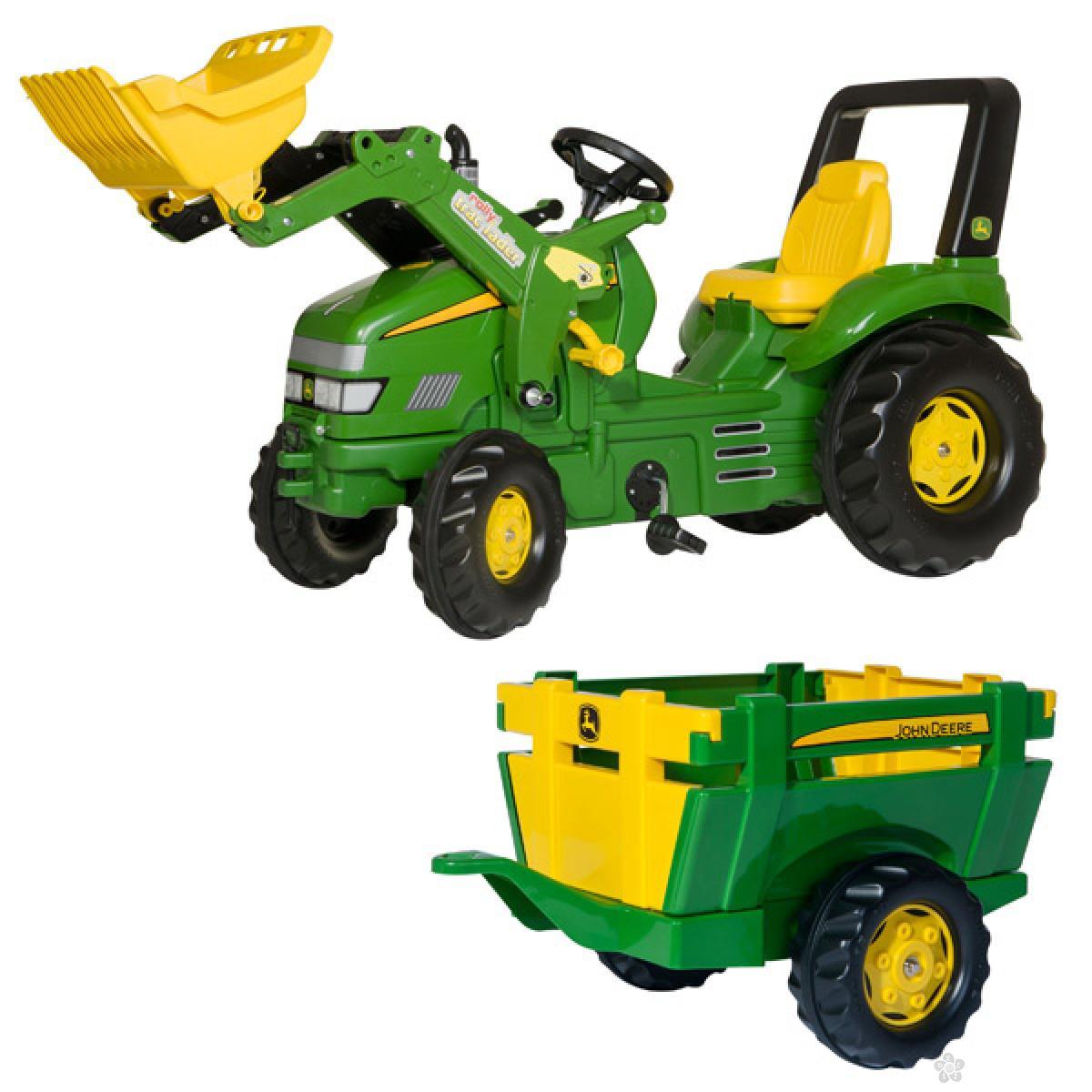 Traktor na pedale Utovarivač sa Farm prikolicom 049523