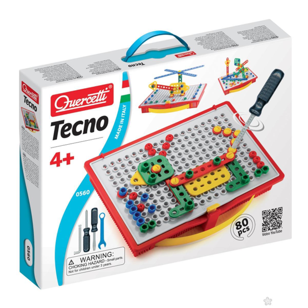 Mozaik Tecno Quercetti 80 delova 0560