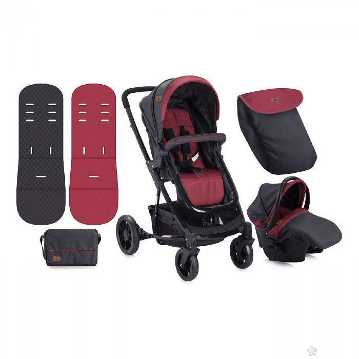 Lorelli Bertoni Kolica S-500 Set Black & Red, 10020851733