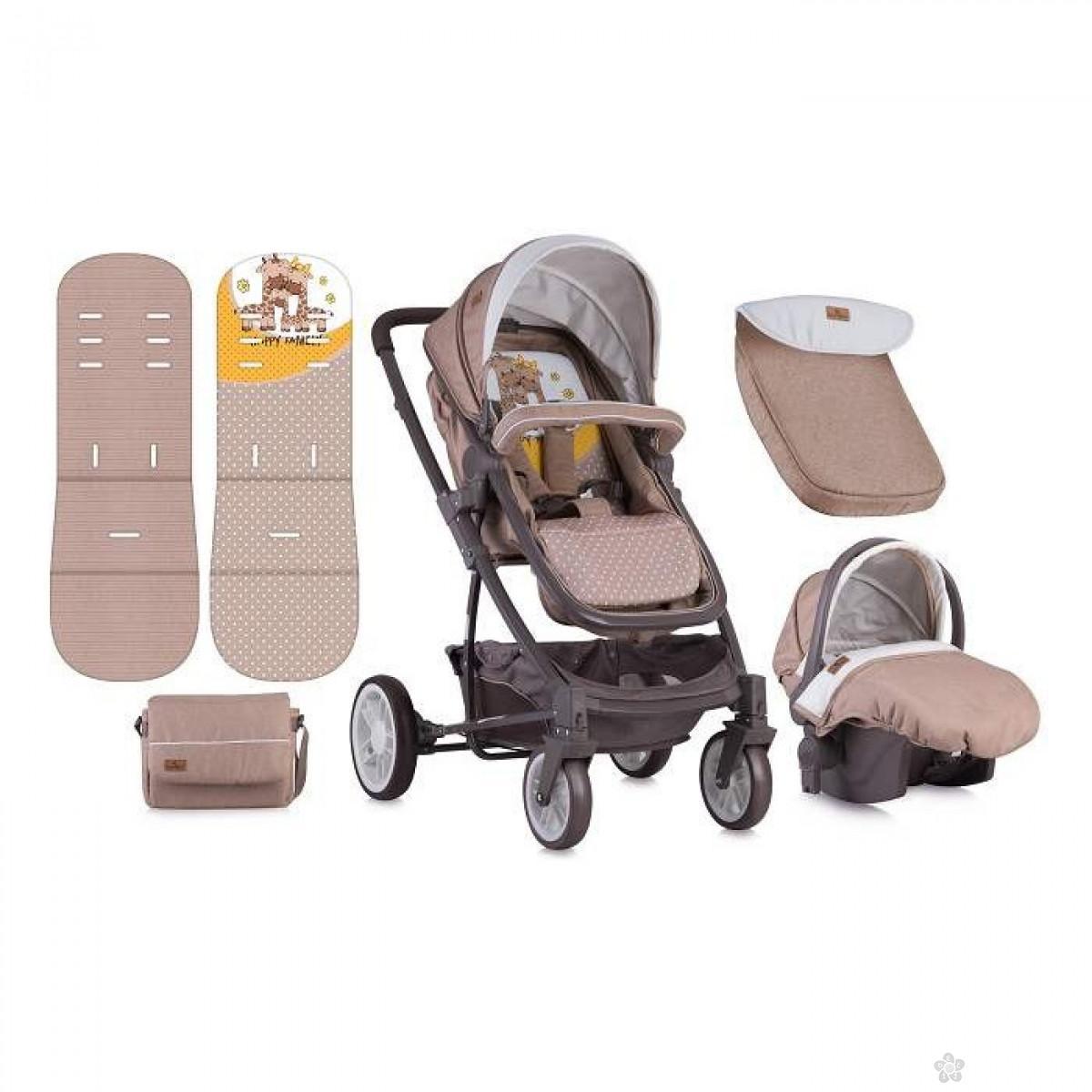 Lorelli Bertoni Kolica S-500 Set Beige&Yellow Happy Family, 10020851803