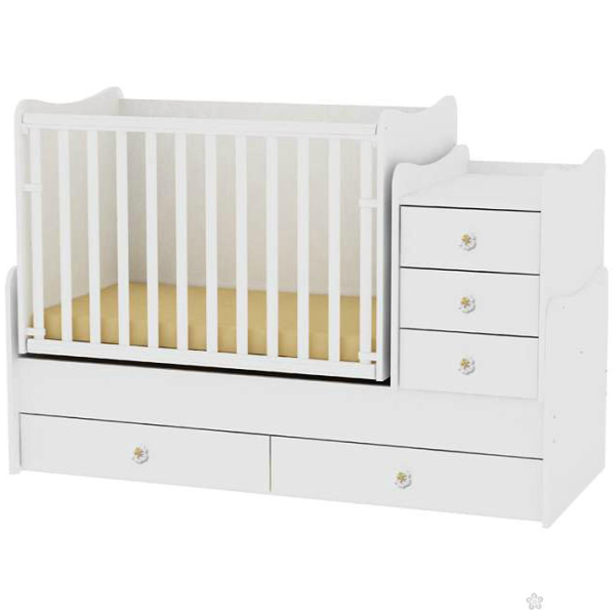 Drveni Krevetac Maxi Plus White, 10150300024