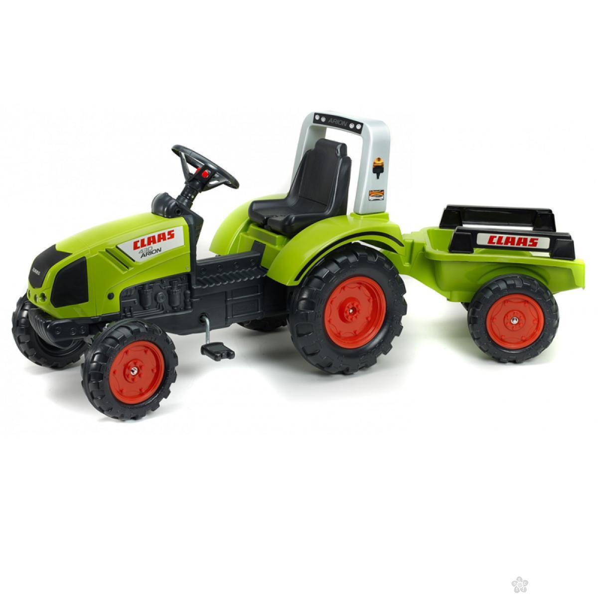Guralica Falk Traktor Claas Arion sa prikolicom 1040am